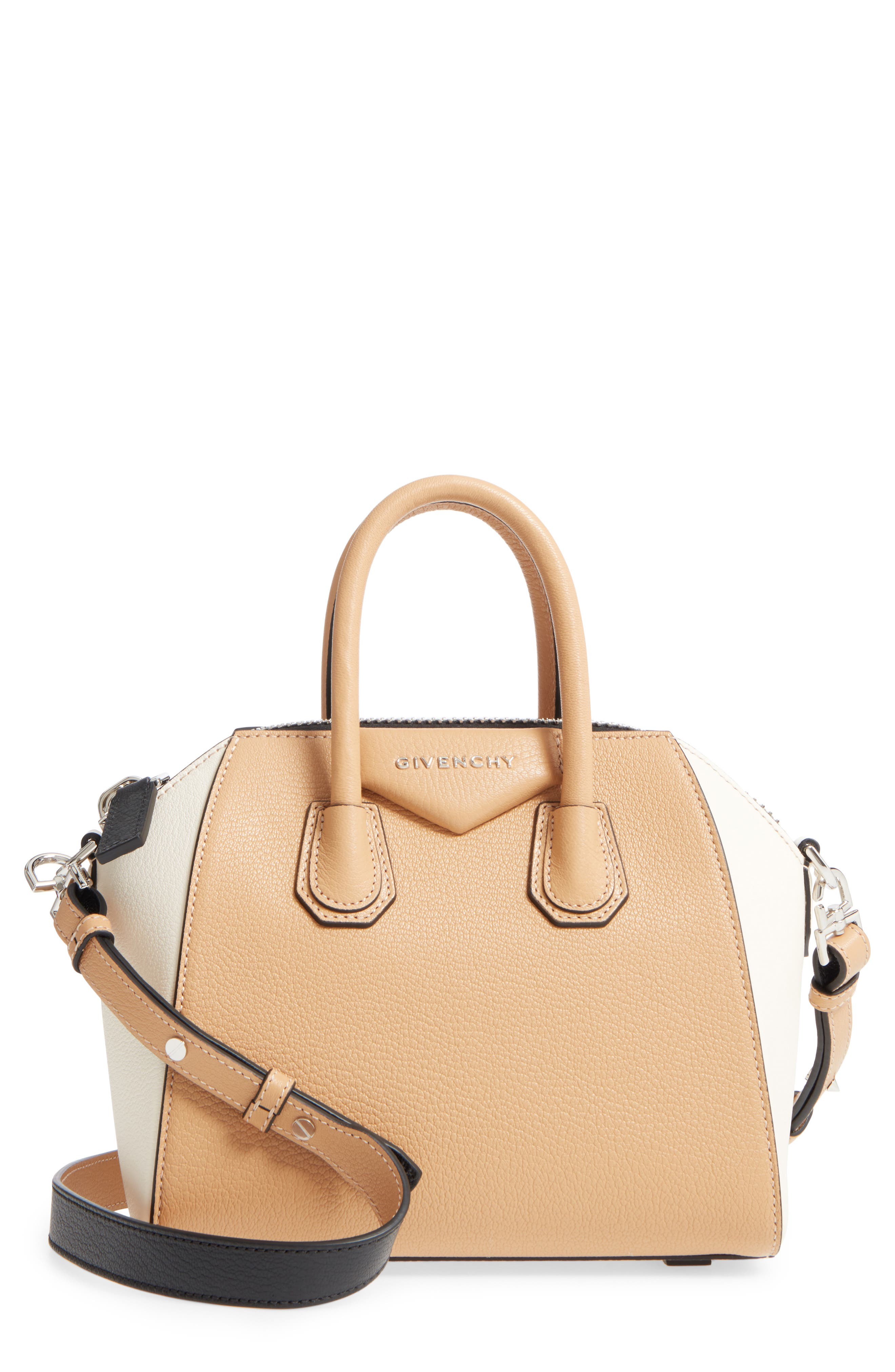 Mini Antigona Bicolor Sugar Leather Satchel,                         Main,                         color,
