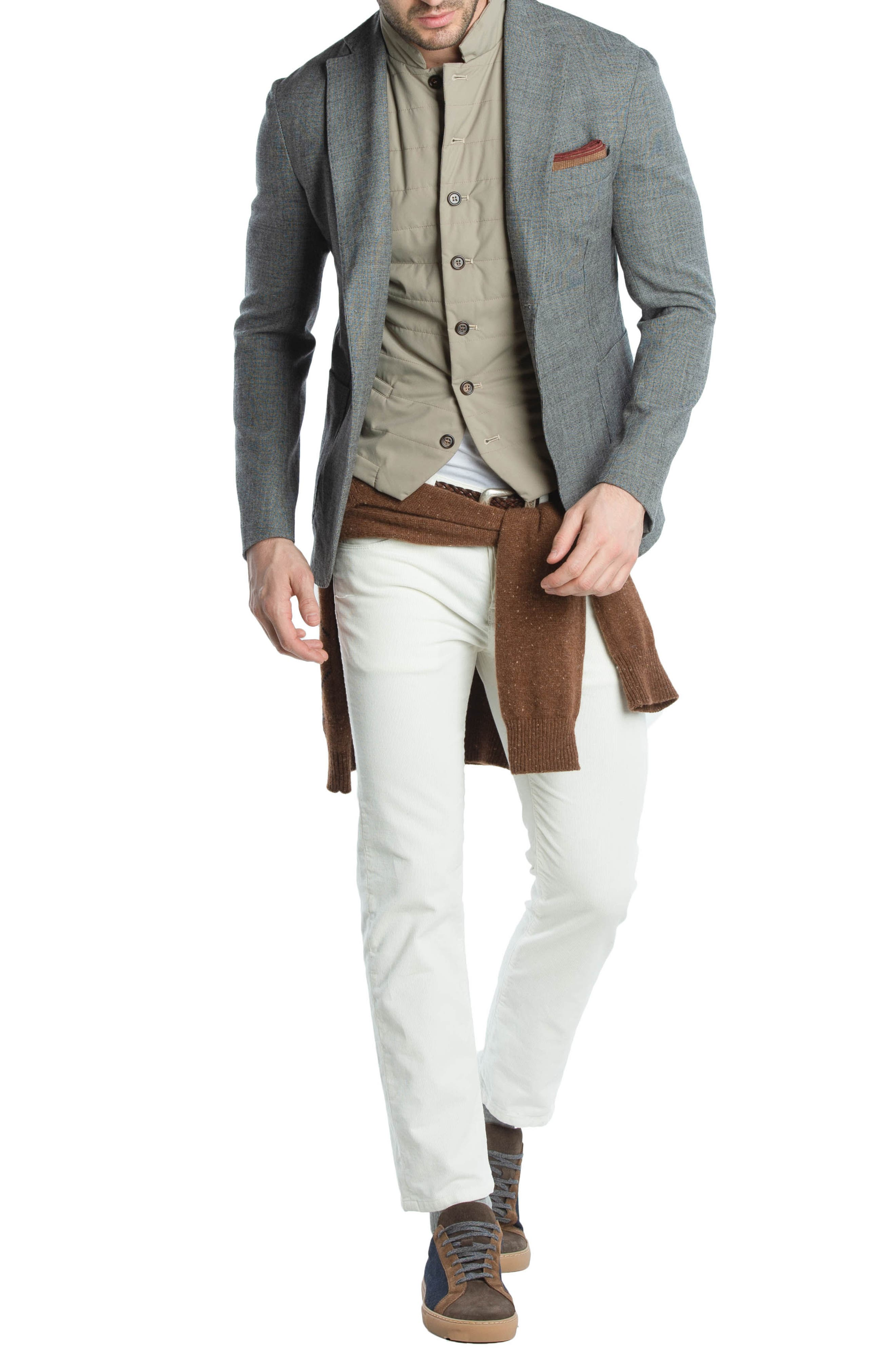 Quilted Vest,                             Alternate thumbnail 9, color,                             TAUPE