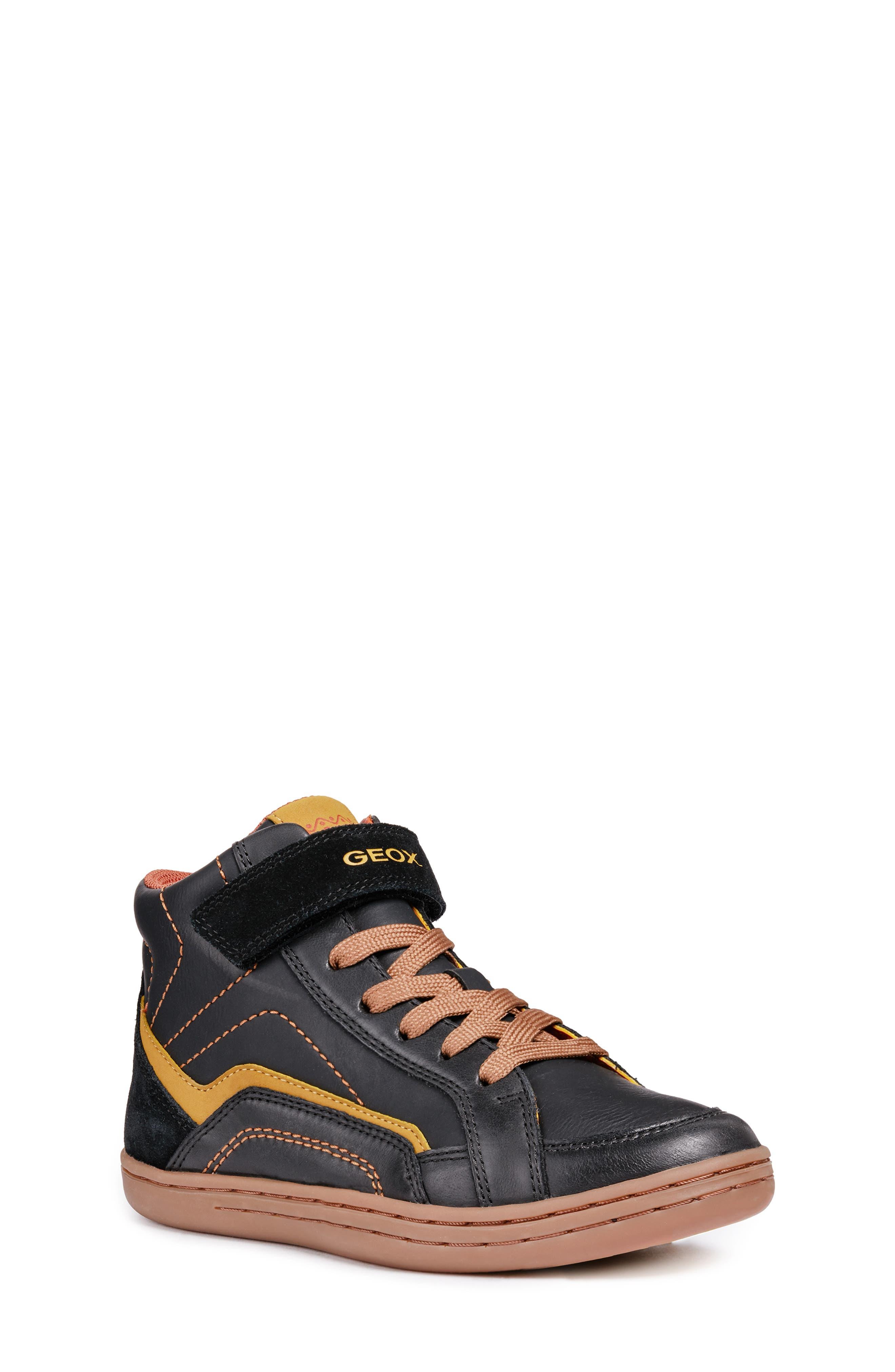Garcia Mid Sneaker,                             Main thumbnail 1, color,                             BLACK/ DARK YELLOW