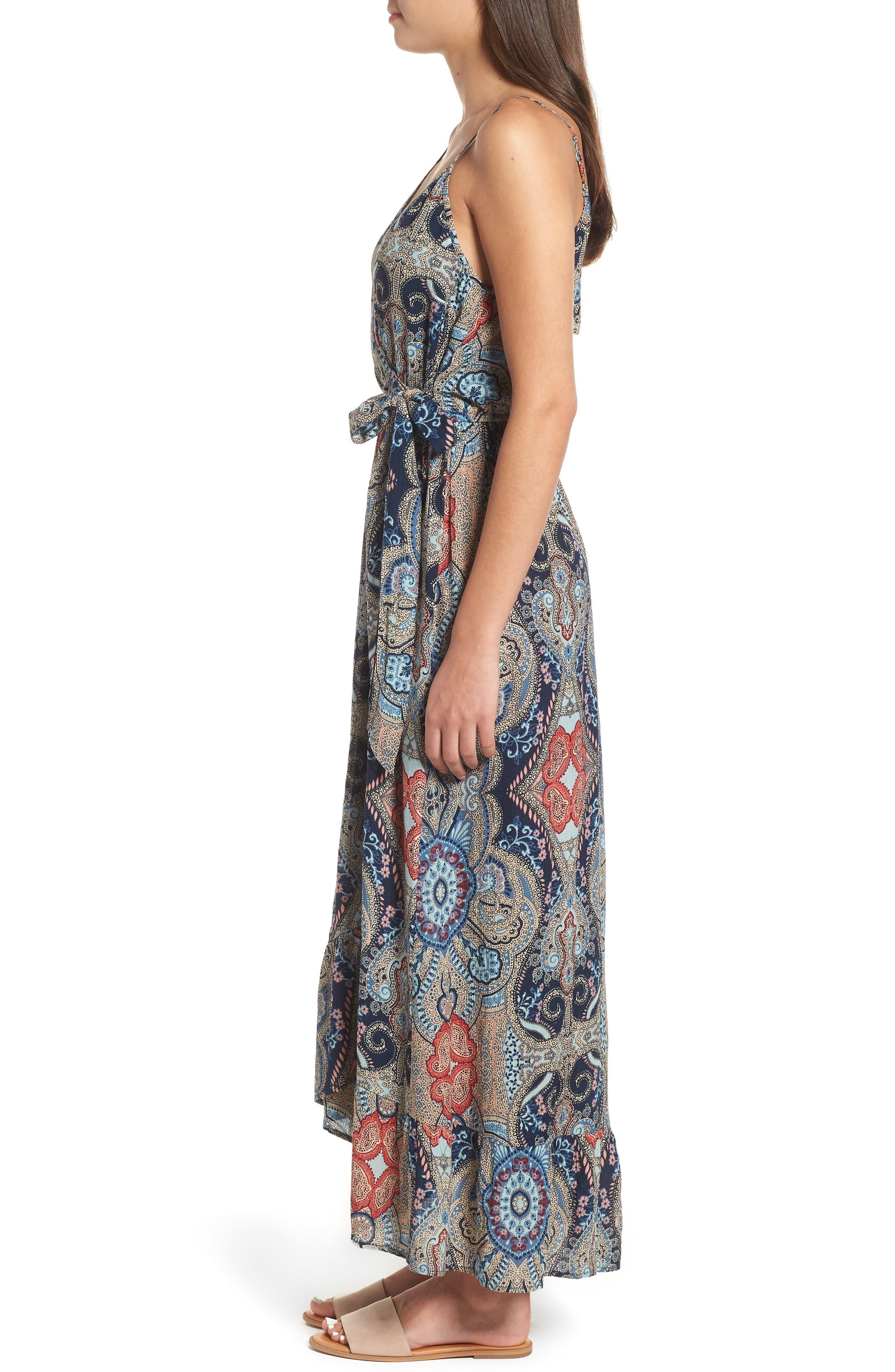 Kenzie Faux Wrap Dress,                             Alternate thumbnail 3, color,                             459