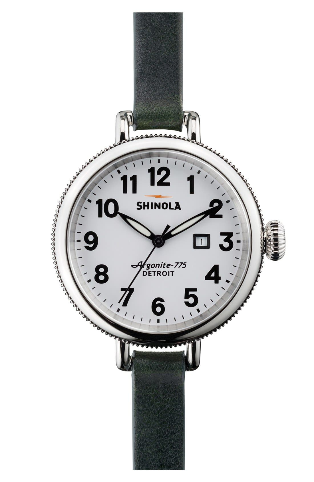 'The Birdy' Double Wrap Leather Strap Watch, 34mm,                             Main thumbnail 11, color,