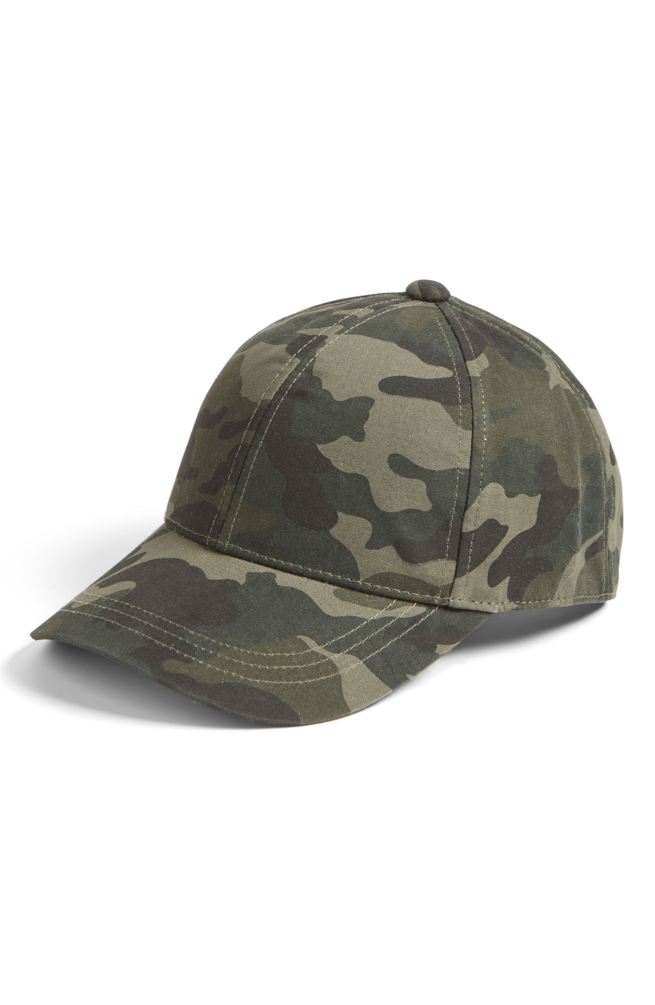 Camo Print Baseball Cap,                             Main thumbnail 1, color,