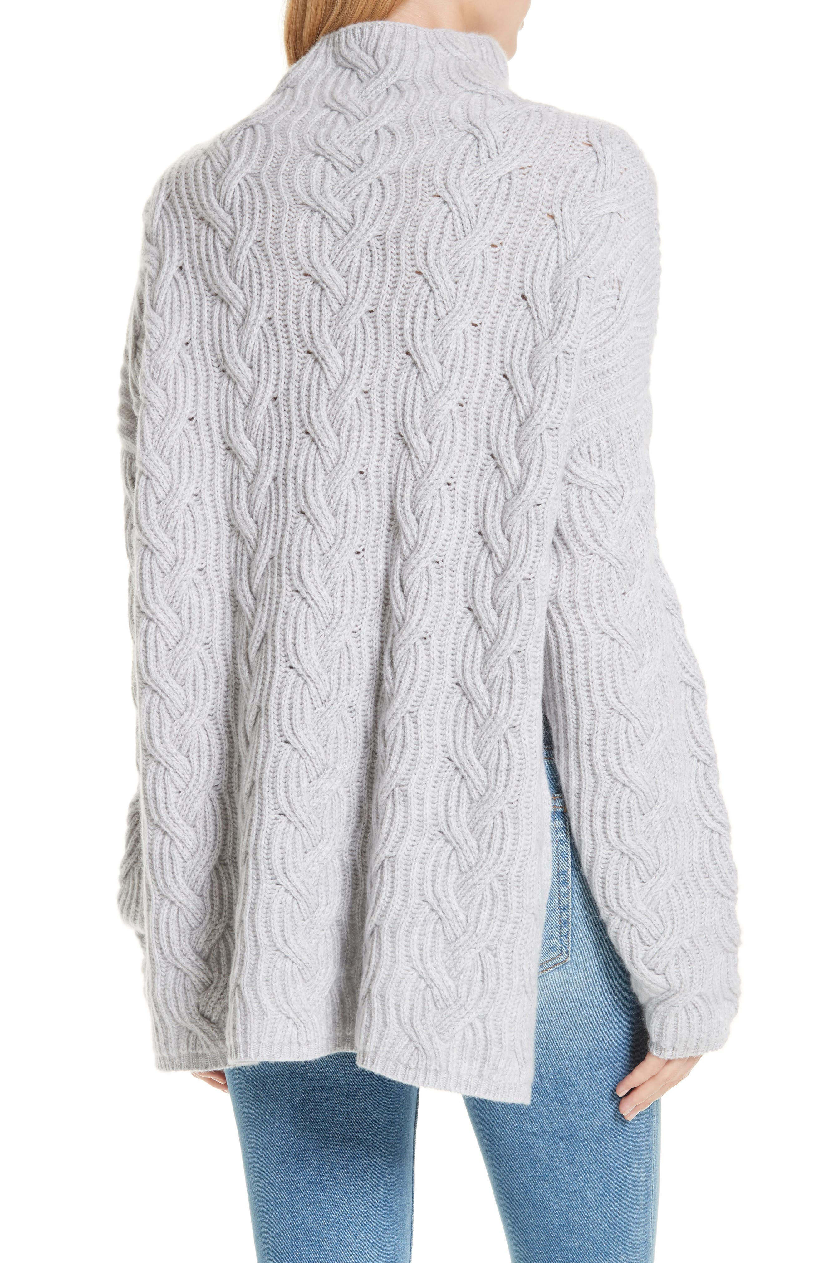 Cable Cashmere Knit Sweater,                             Alternate thumbnail 2, color,                             050