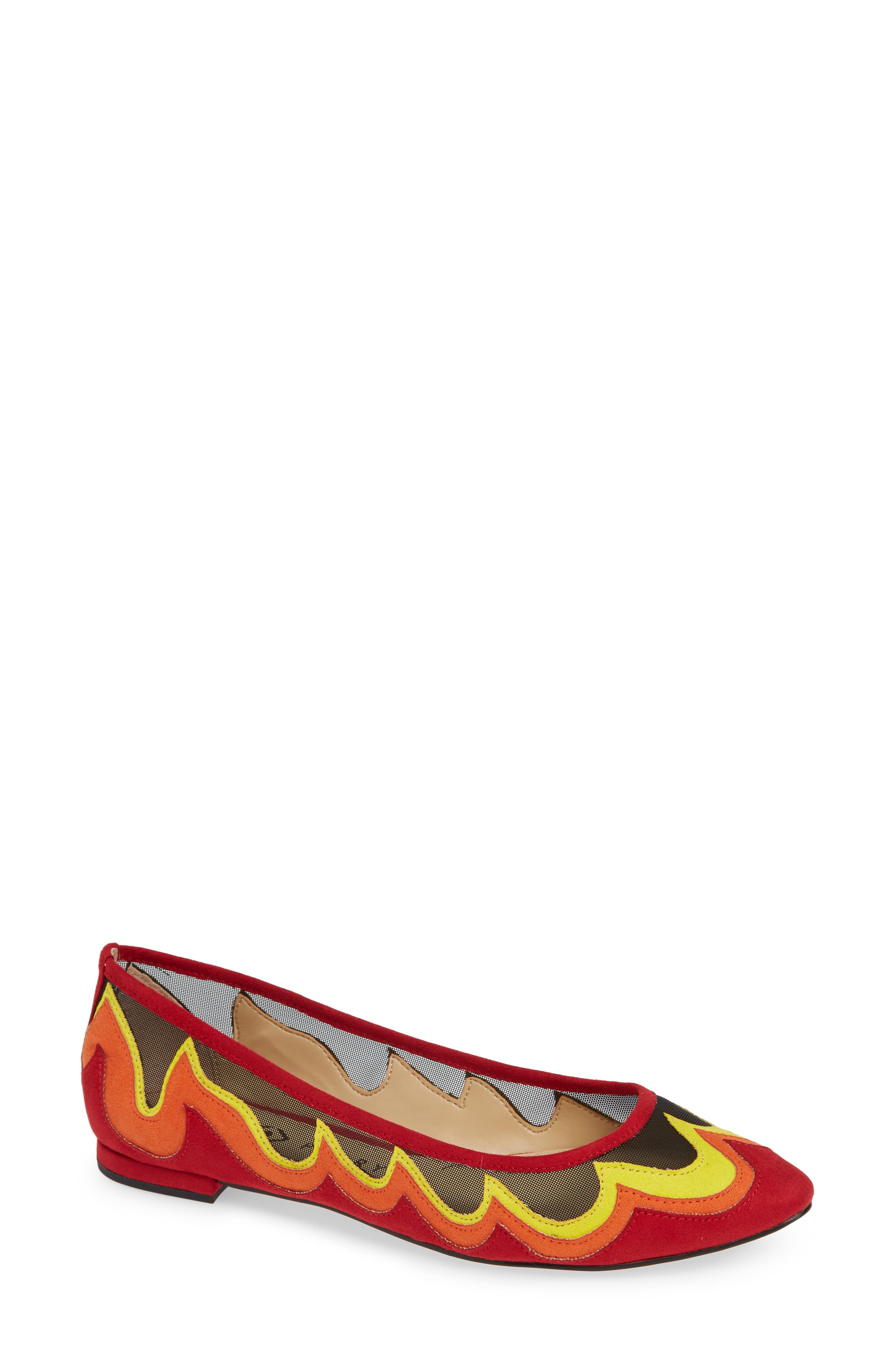 KATY PERRY Ballet Flat in Black/ Red
