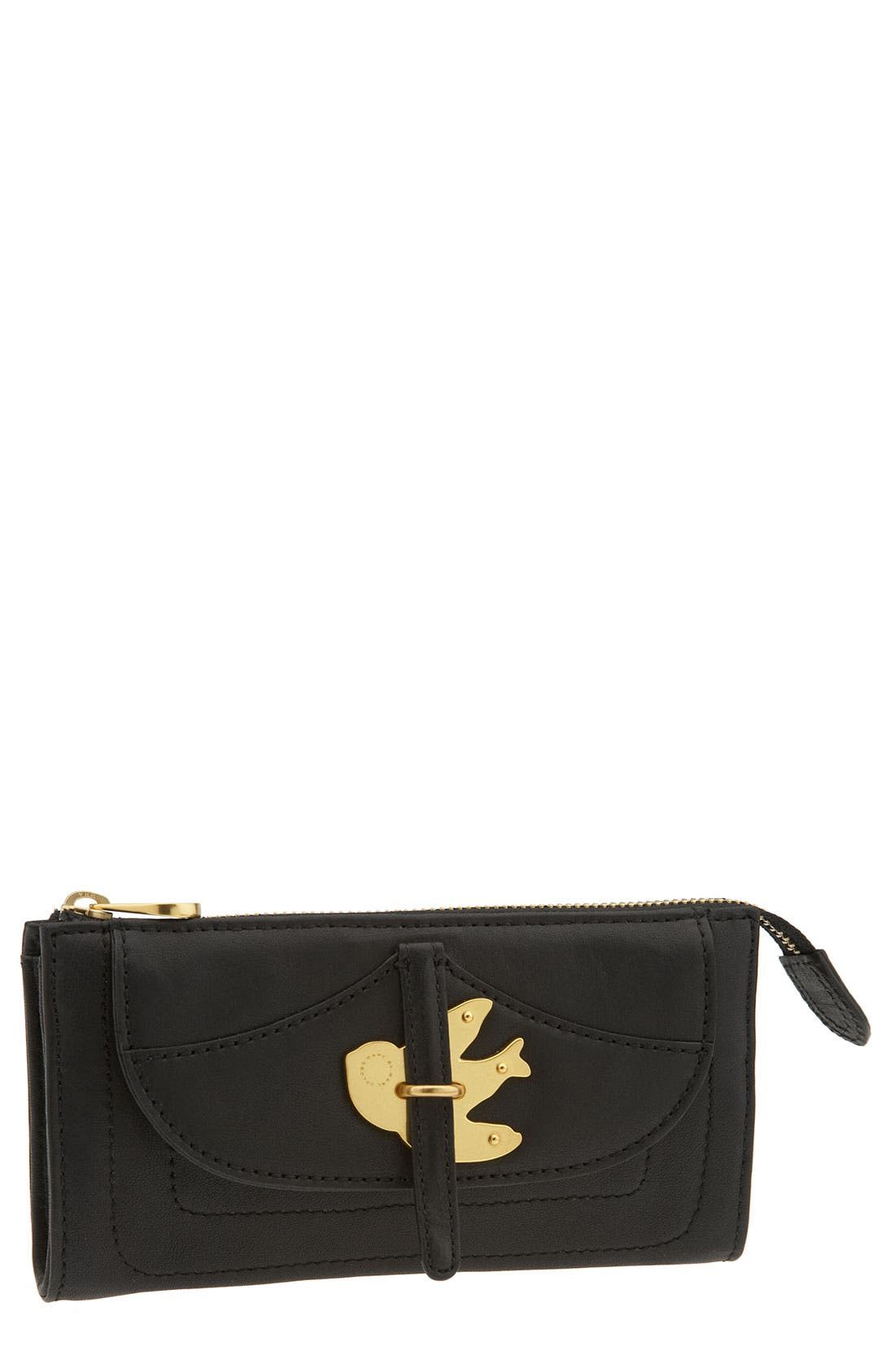 MARC BY MARC JACOBS 'Petal to the Metal' Zip Clutch Wallet,                             Main thumbnail 1, color,                             001