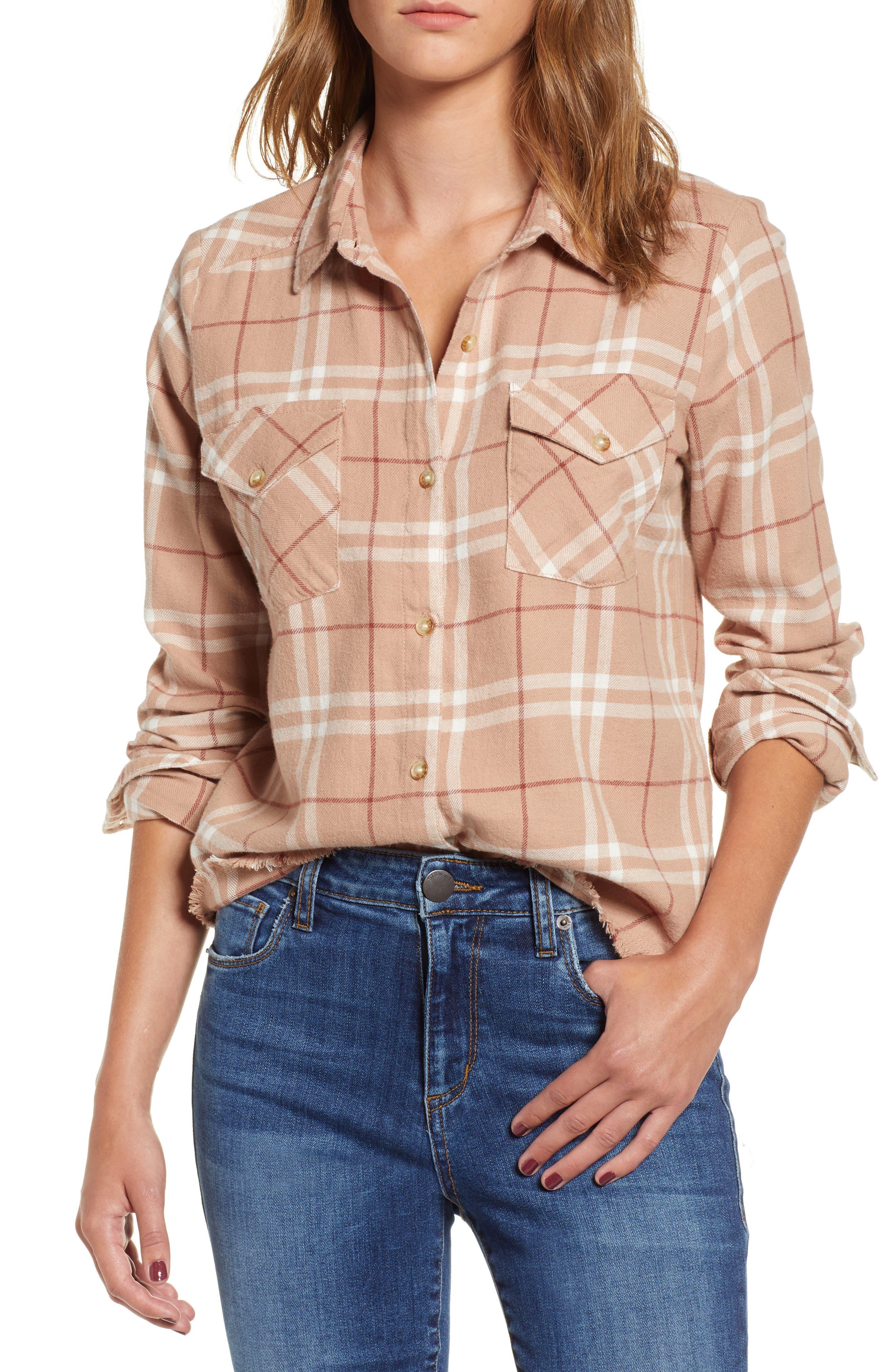 In a Haze Plaid Cotton Shirt,                         Main,                         color, 020