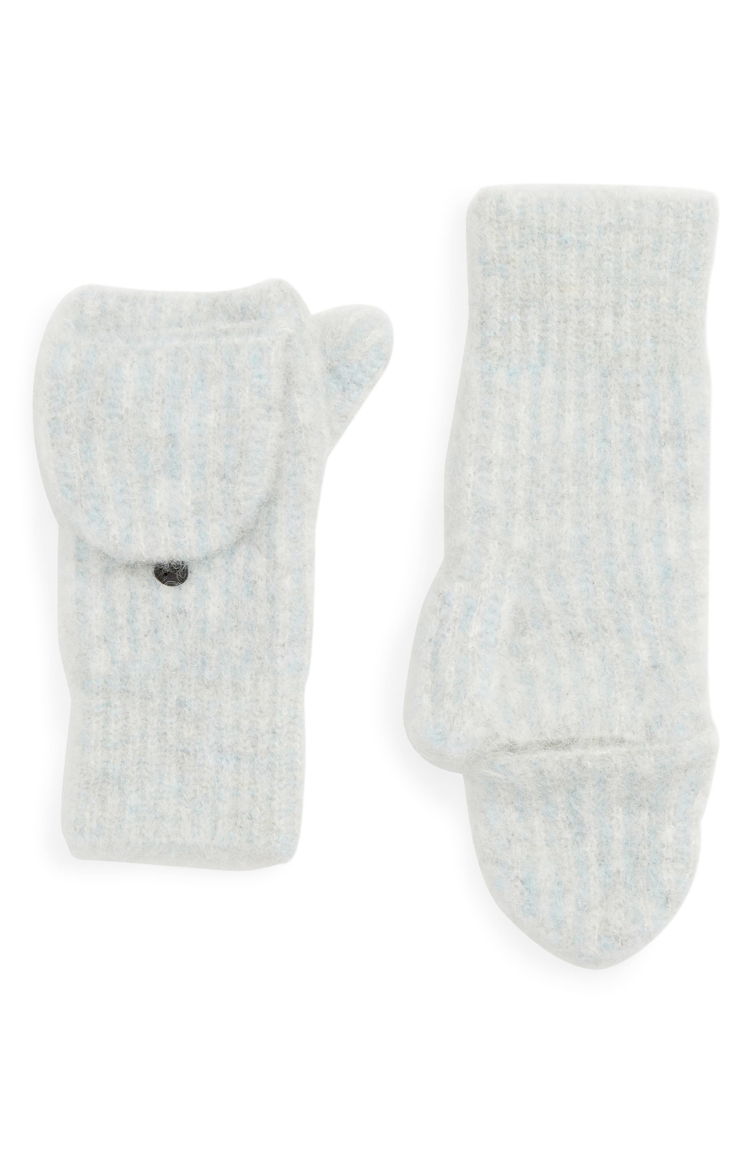 Jonie Convertible Mittens,                             Main thumbnail 1, color,                             LT GREY/ BLUE