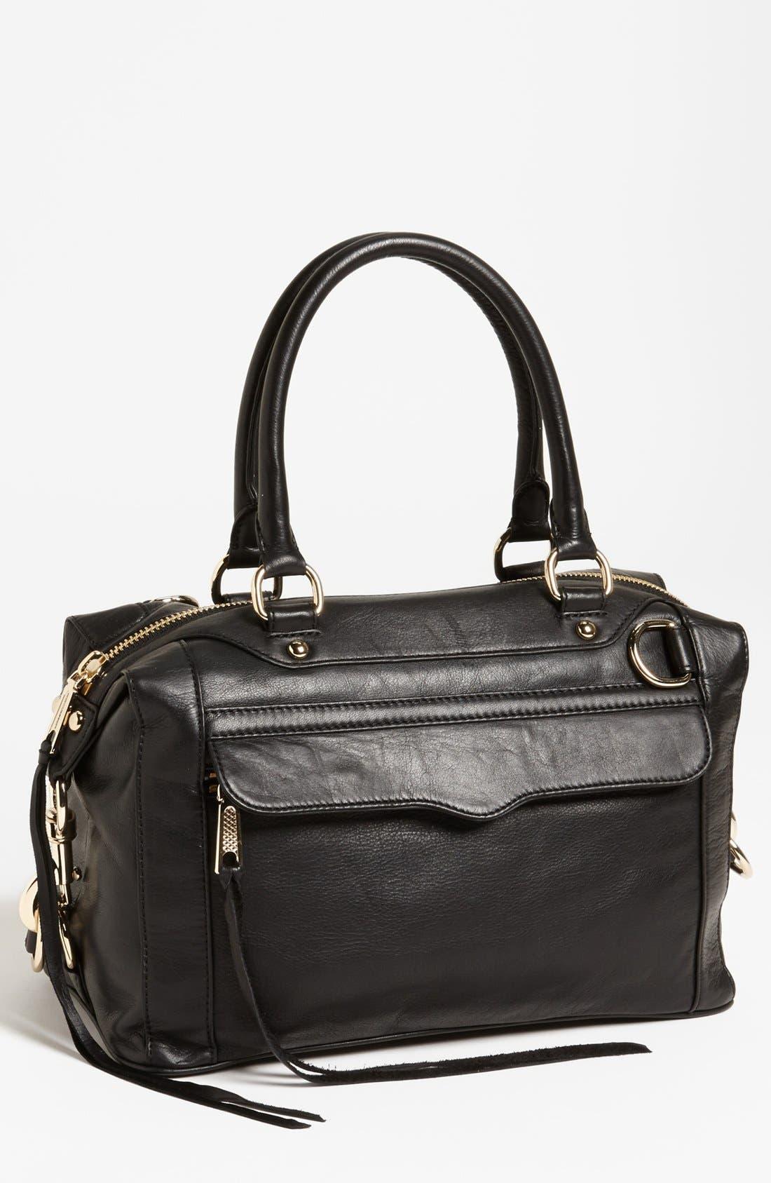 'MAB - Mini' Leather Satchel,                         Main,                         color, 001