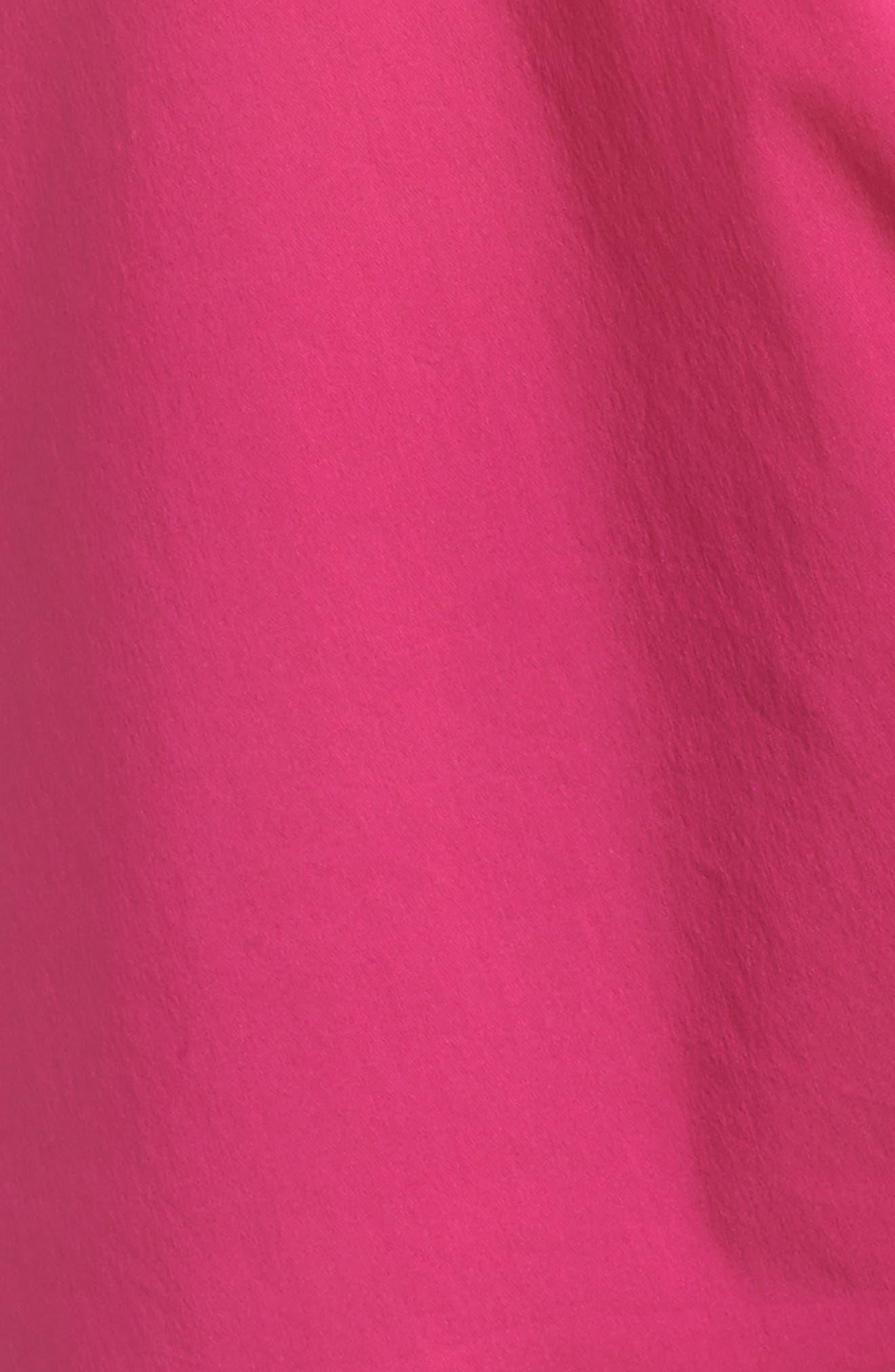 Side Tie Stretch Poplin Top,                             Alternate thumbnail 12, color,