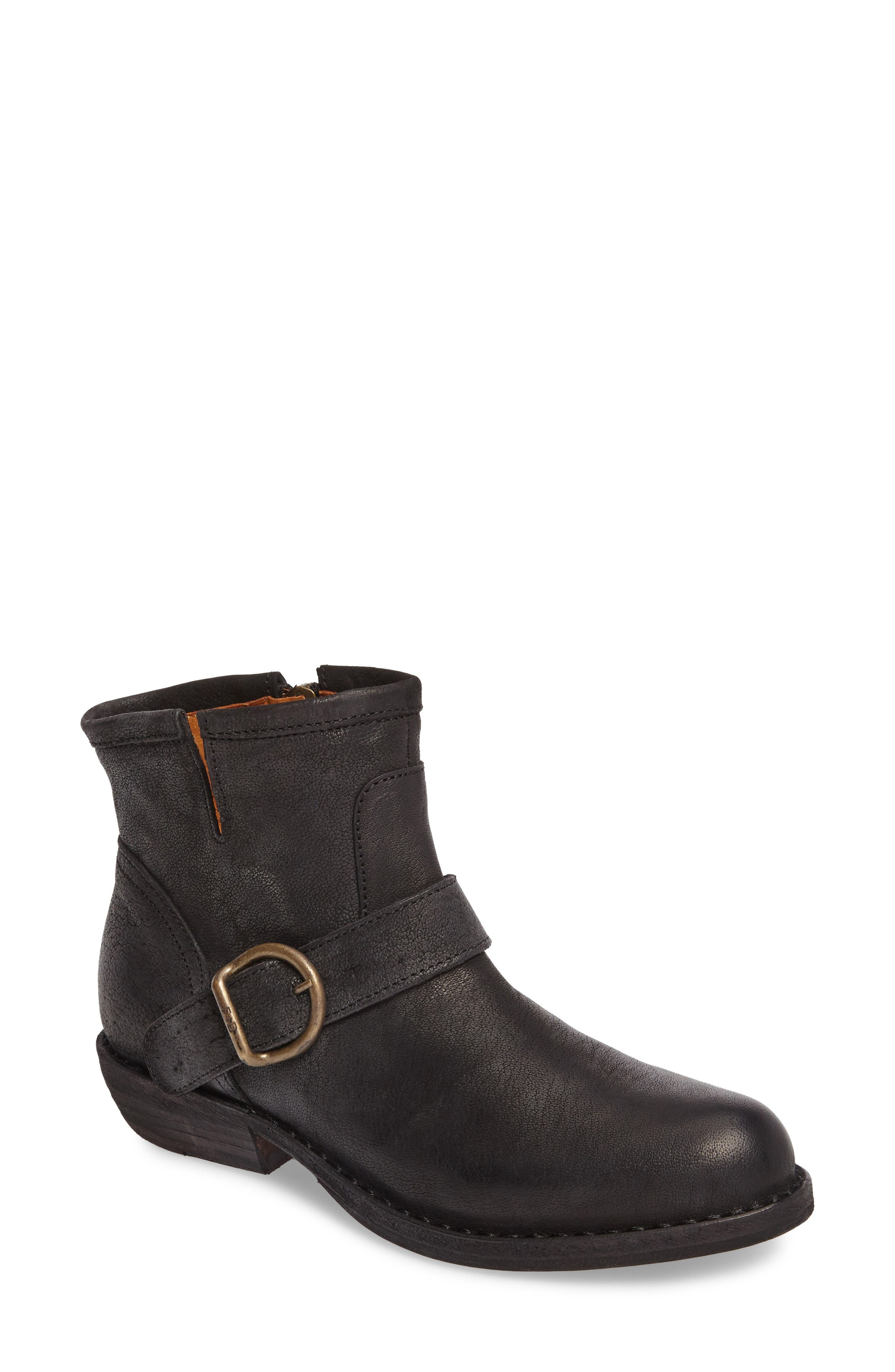 FIORENTINI + BAKER,                             'Chad' Textured Leather Bootie,                             Main thumbnail 1, color,                             002