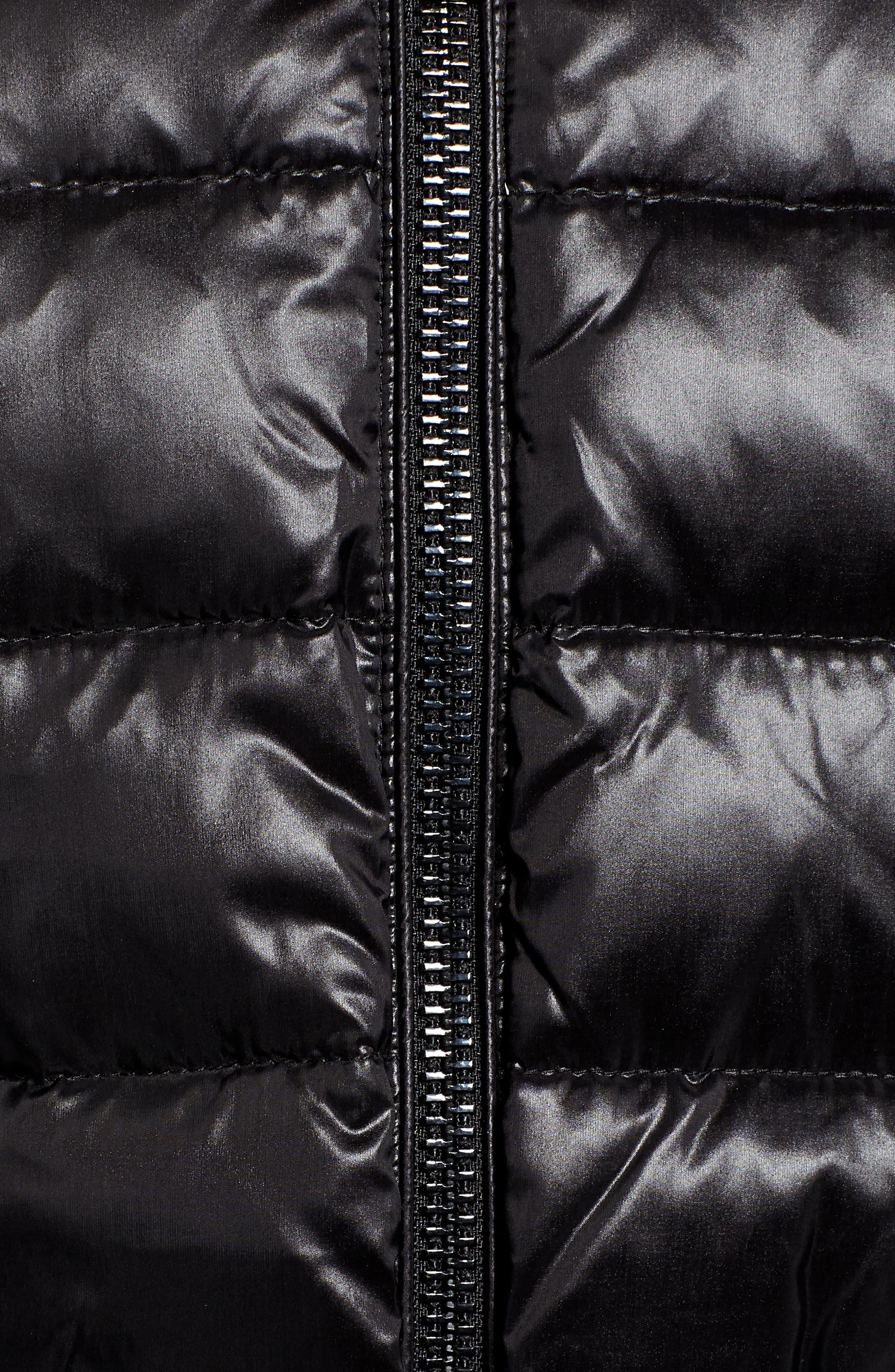 Faux Fur Puffer Jacket,                             Alternate thumbnail 7, color,                             001