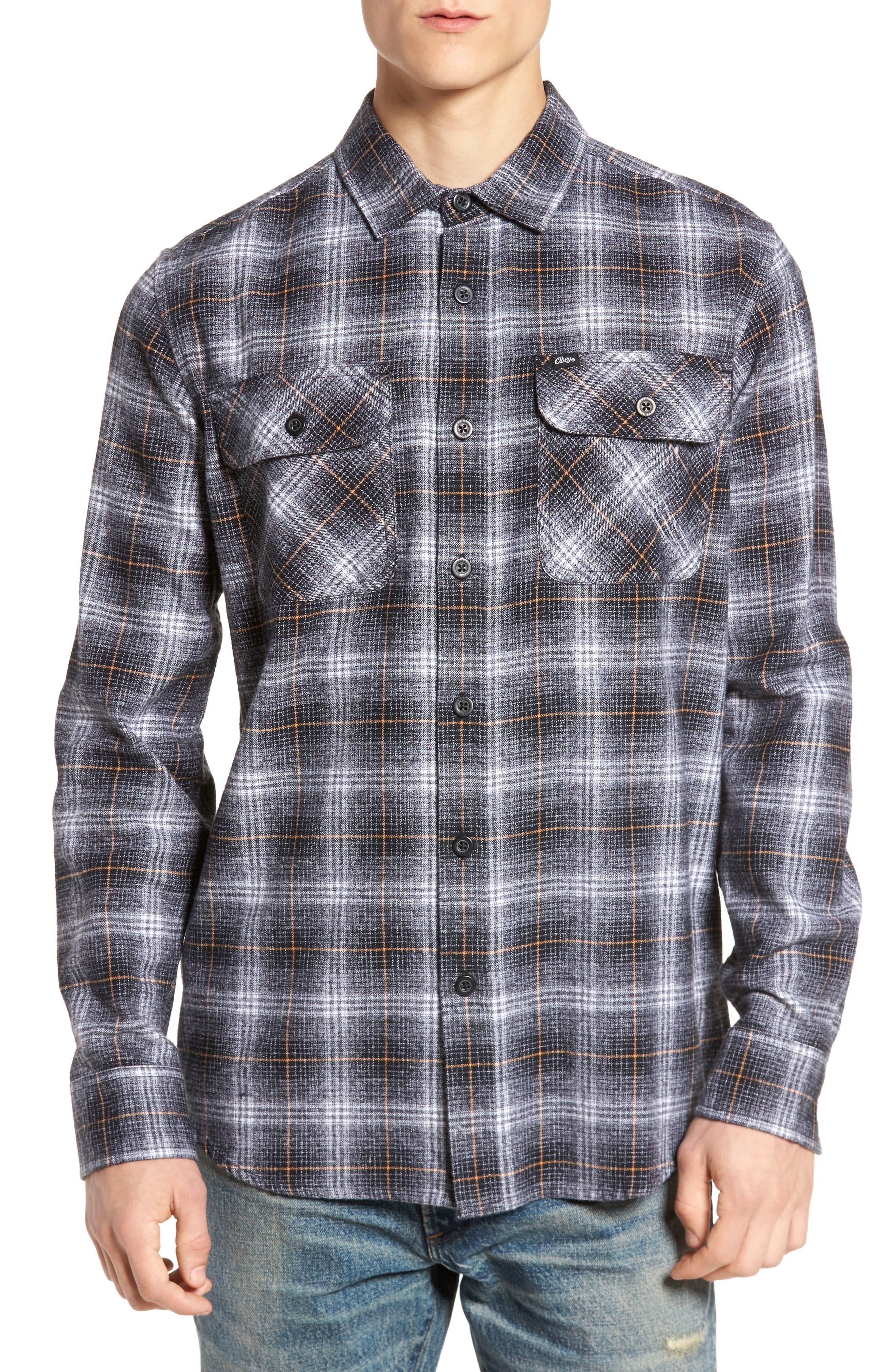 Shriner Flannel Shirt,                             Main thumbnail 1, color,                             002