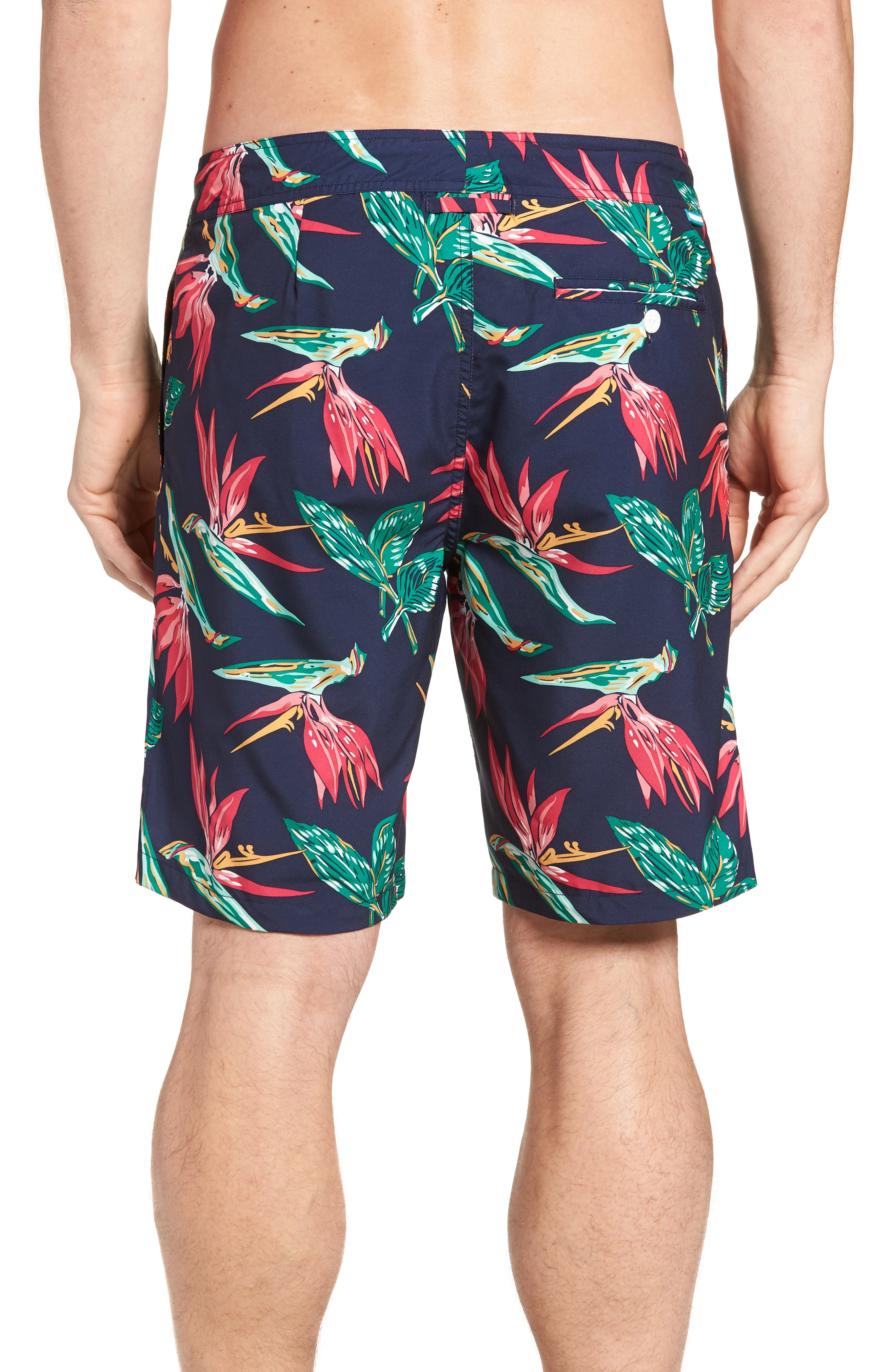 Banzai 9-Inch Swim Trunks,                             Alternate thumbnail 2, color,                             BIRD OF PARADISE