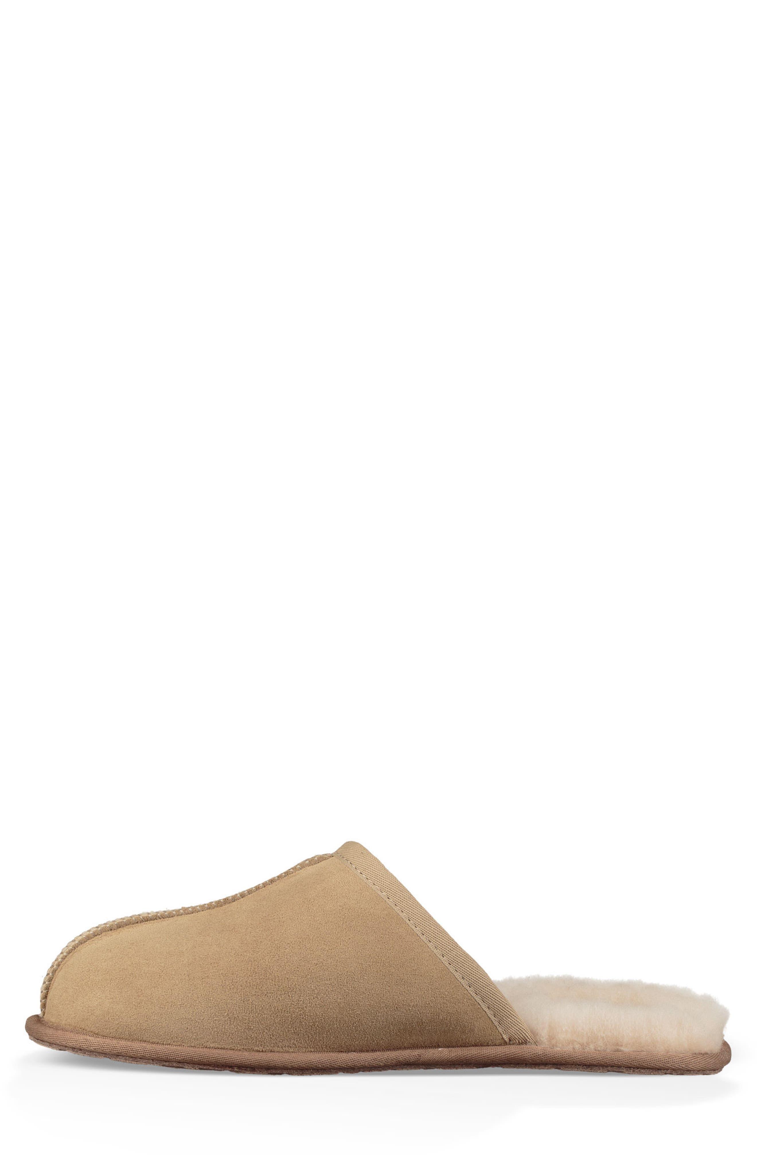 Scuff 40:40:40 Anniversary Genuine Shearling Slipper,                             Alternate thumbnail 3, color,                             SAND