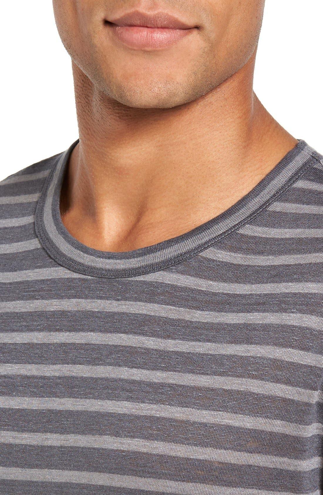 Stripe Linen T-Shirt,                             Alternate thumbnail 4, color,                             036