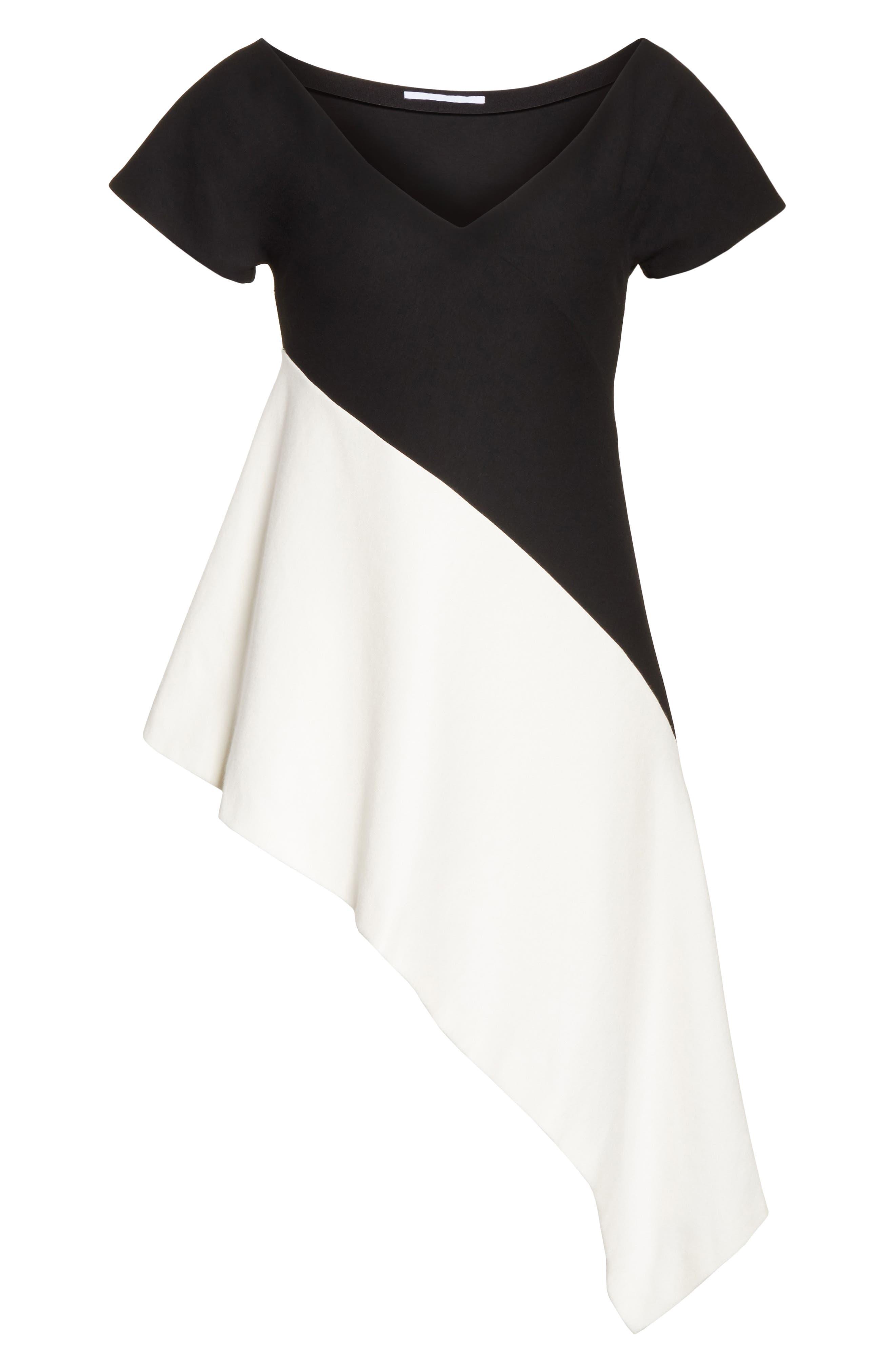 Asymmetrical Jersey Top,                             Alternate thumbnail 6, color,                             002