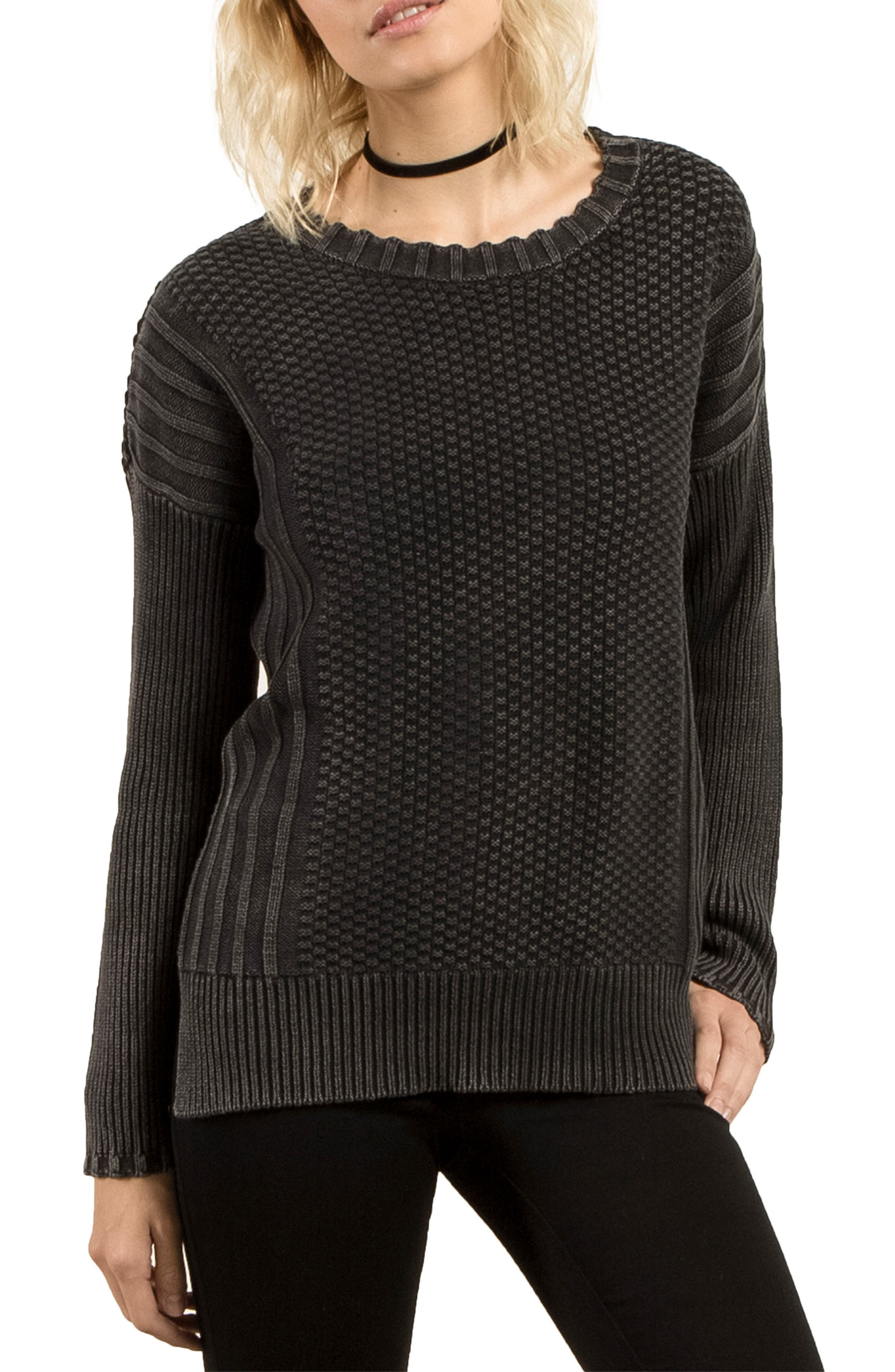 Twisted Mr Cotton Sweater,                         Main,                         color, 001
