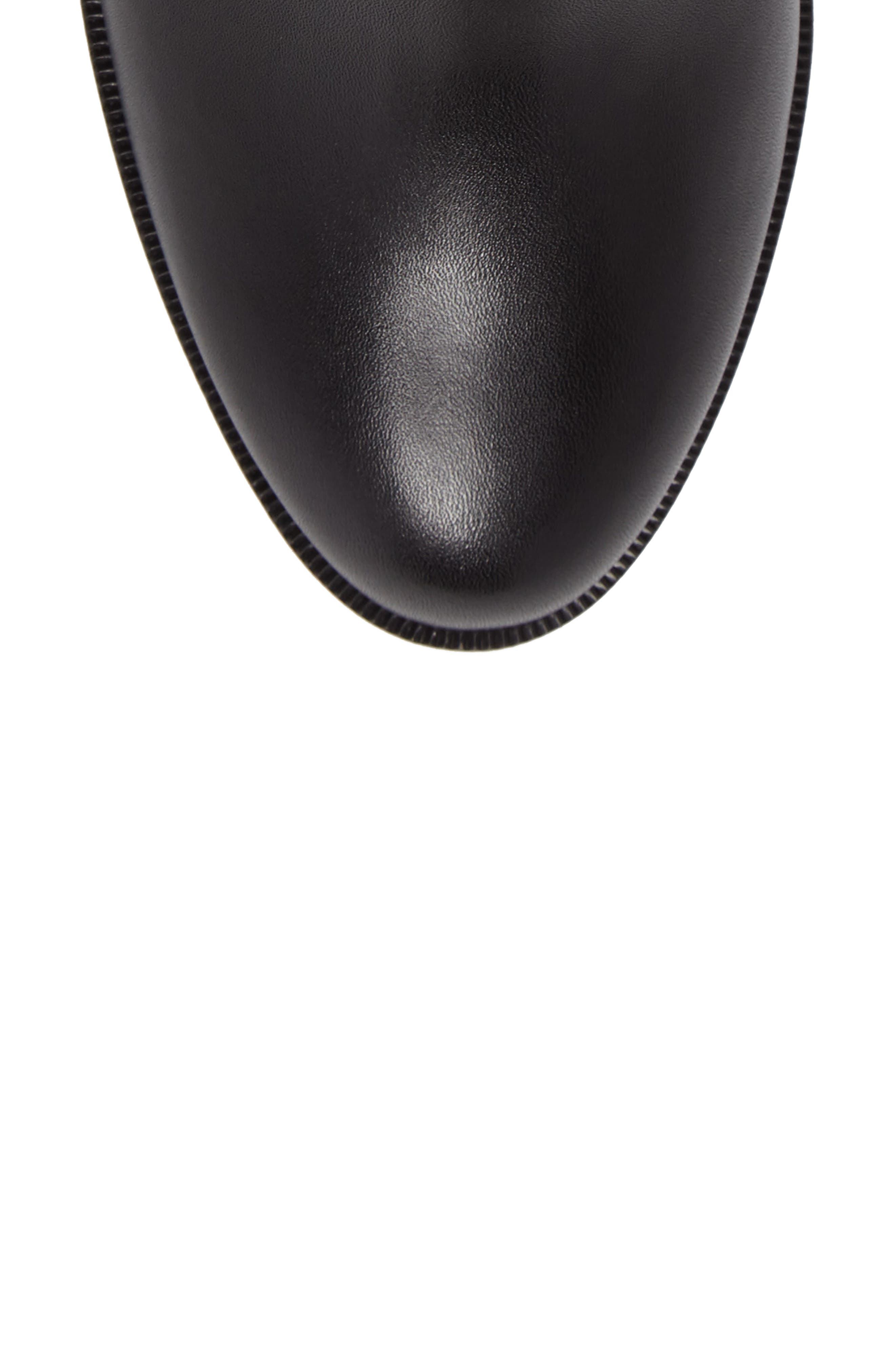 CHRISTIAN LOUBOUTIN,                             Adox Boot,                             Alternate thumbnail 5, color,                             BLACK LEATHER