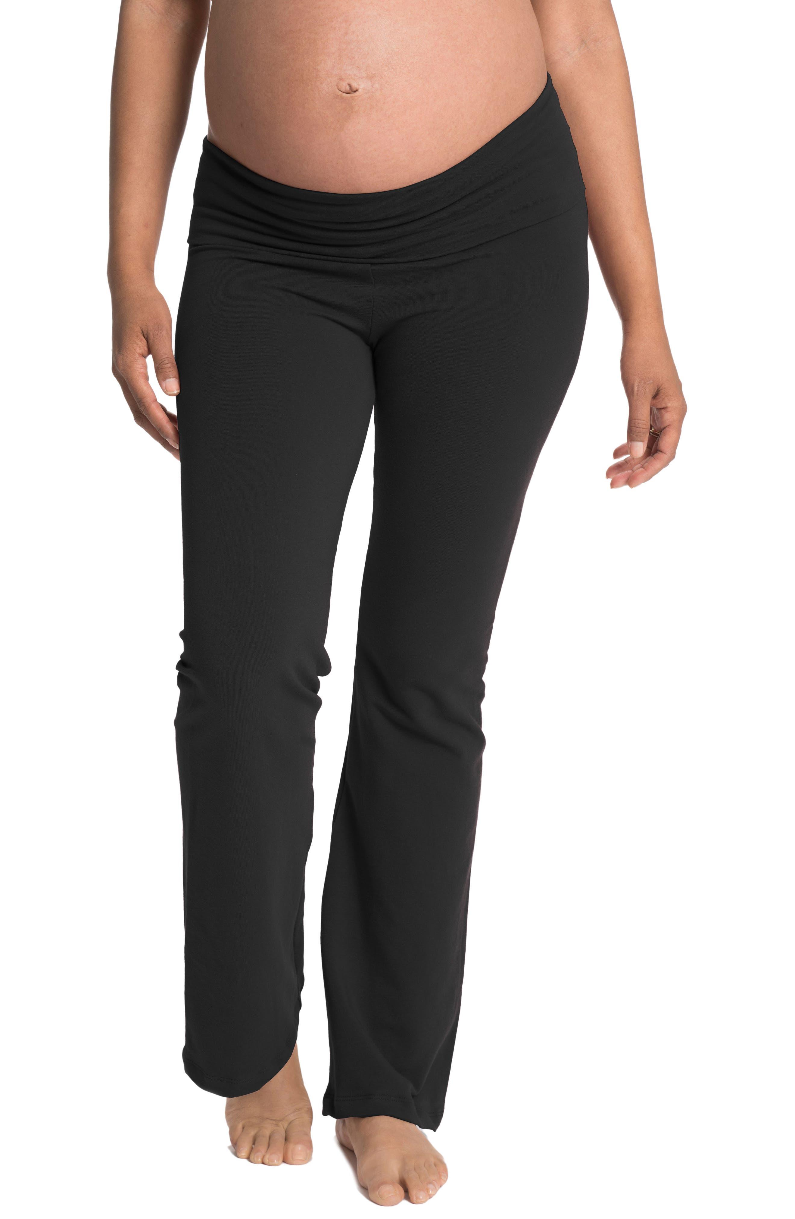 Cozy Wide Leg Foldover Maternity Pants,                         Main,                         color, 005