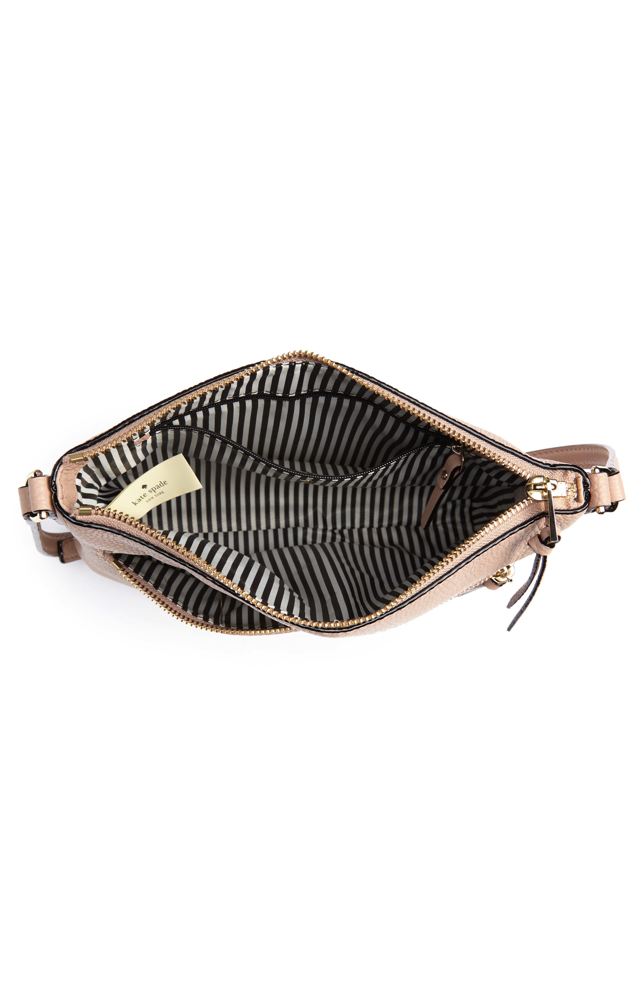 jackson street - gabriele leather crossbody bag,                             Alternate thumbnail 4, color,                             GINGER TEA