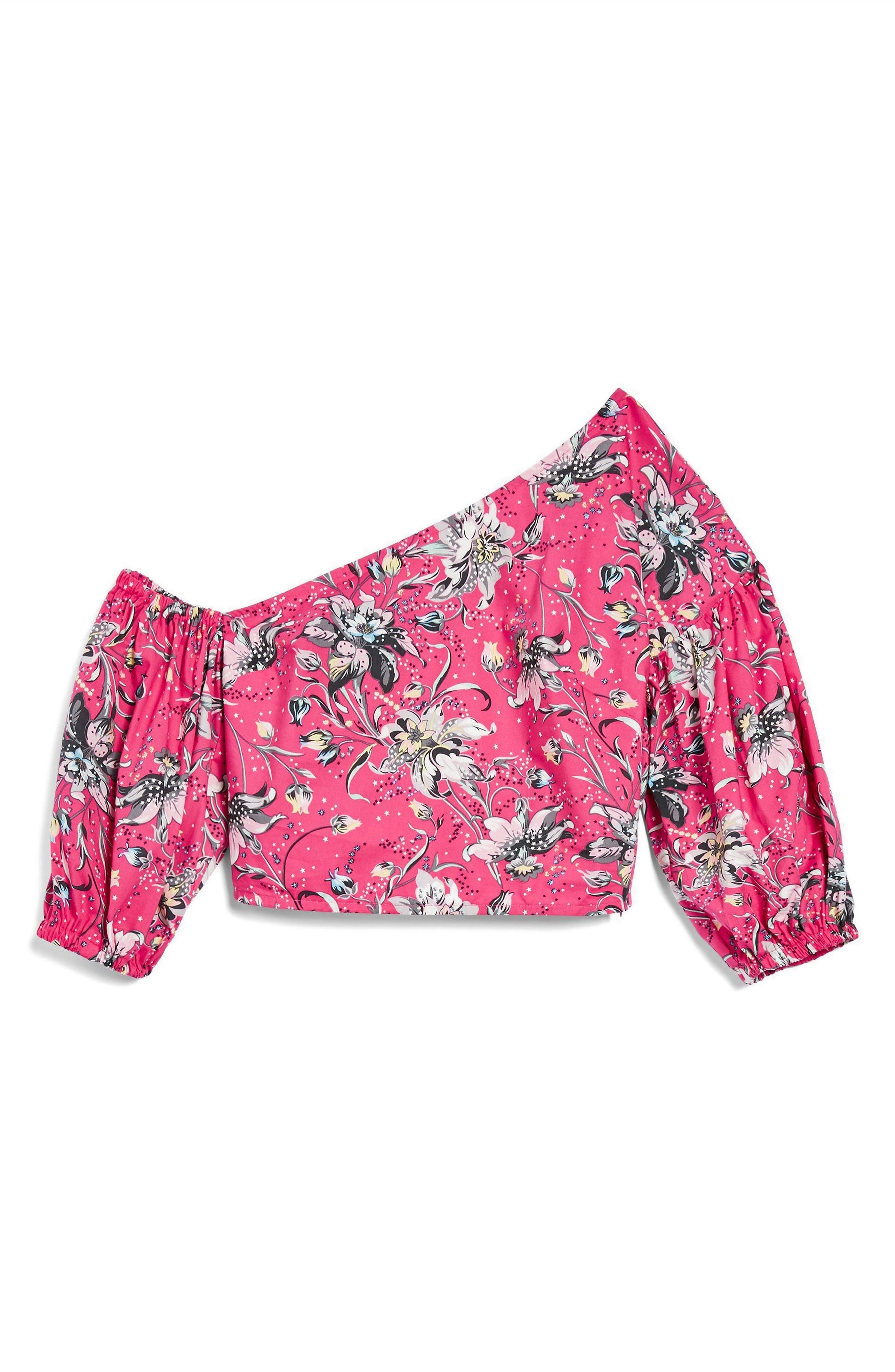 Floral Puff Off the Shoulder Top,                             Alternate thumbnail 3, color,                             651