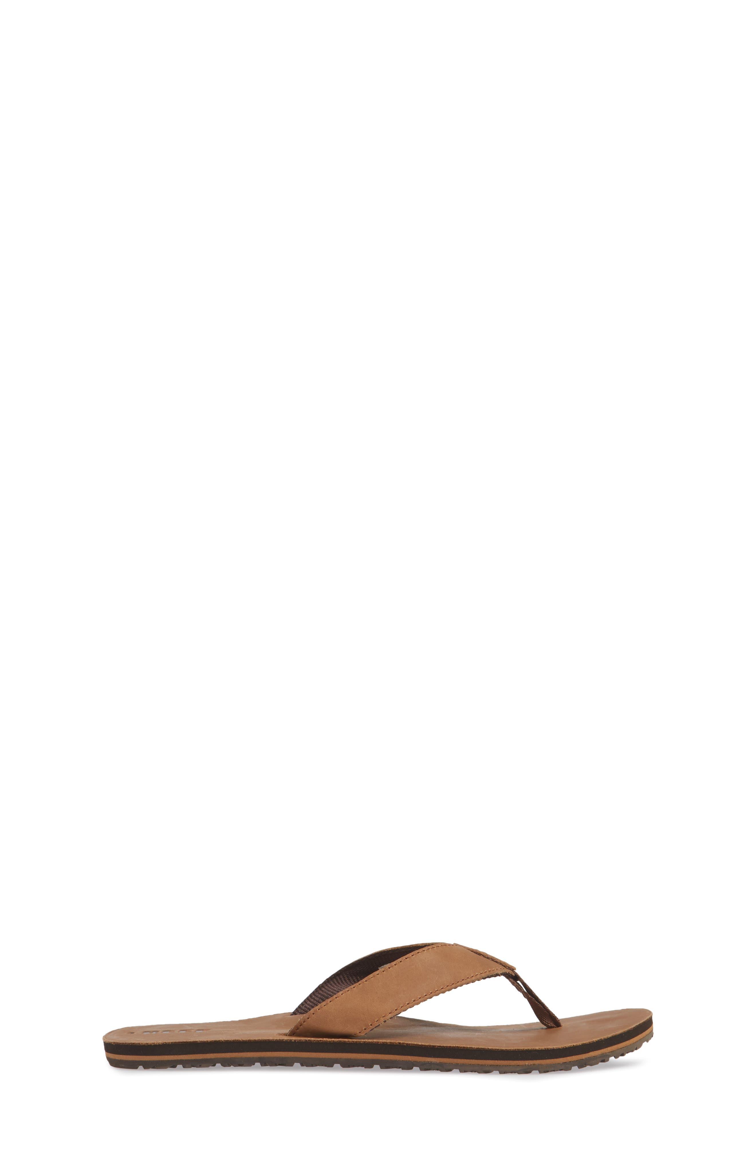 'Grom' Leather Flip-Flop,                             Alternate thumbnail 3, color,                             200