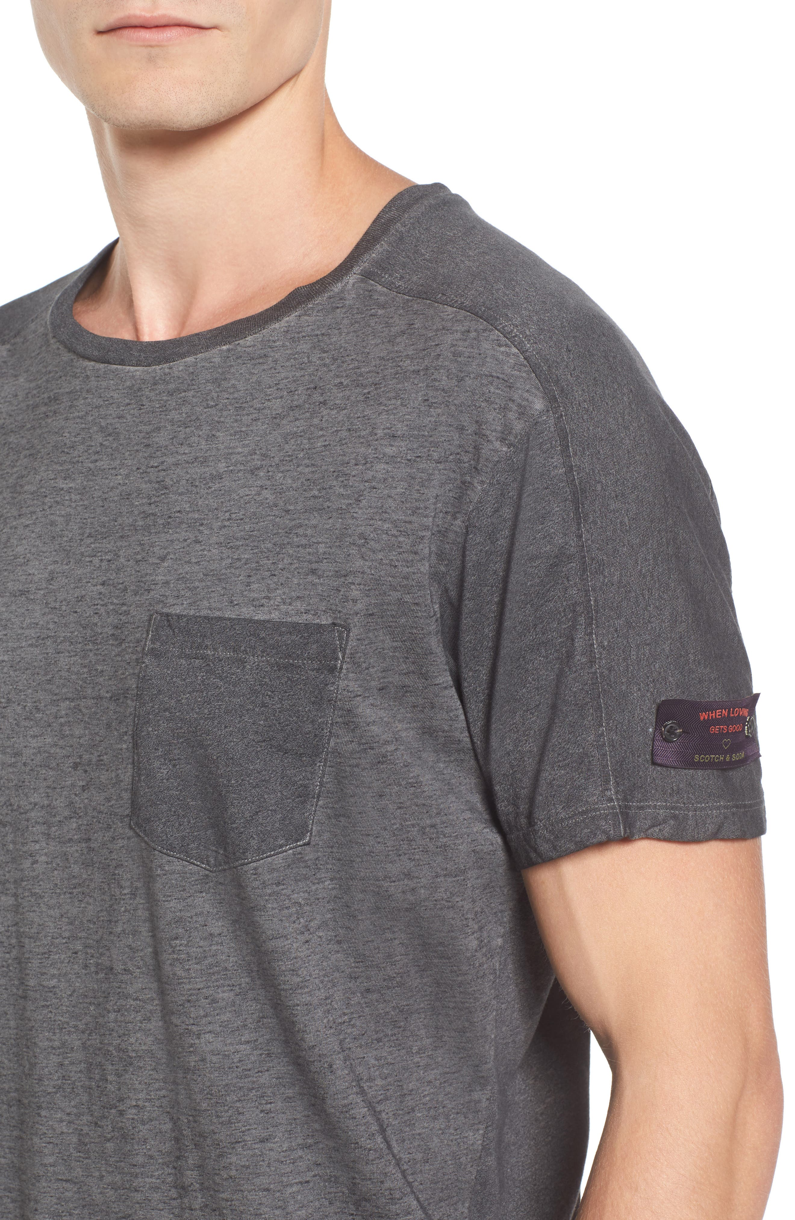 Oil-Washed Pocket T-Shirt,                             Alternate thumbnail 4, color,                             021