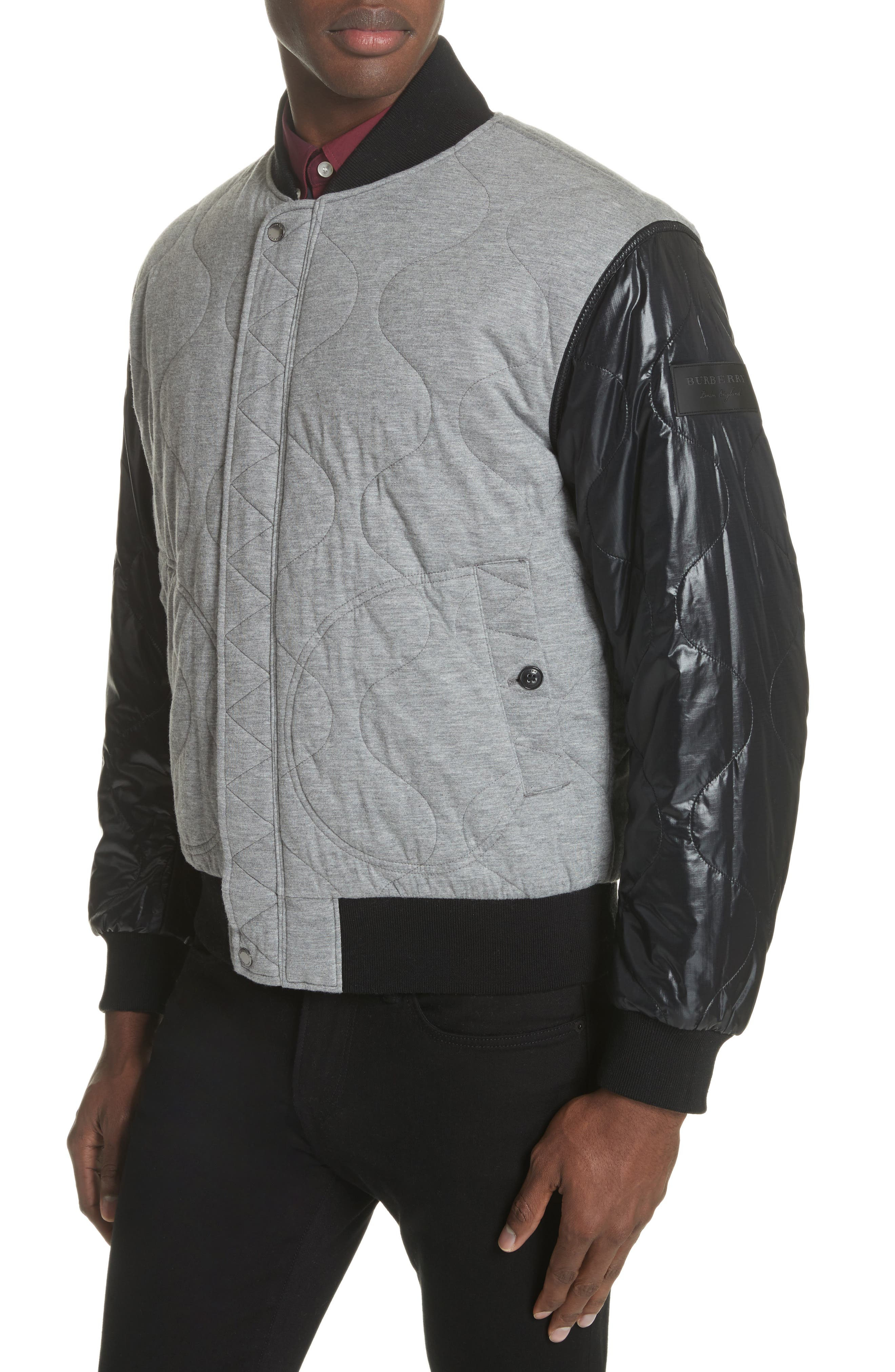 BURBERRY,                             Campton Reversible Quilted Jersey Bomber Jacket,                             Alternate thumbnail 2, color,                             031