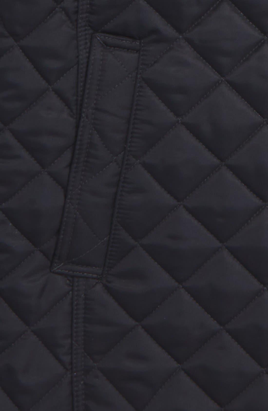 BURBERRY,                             'Mini Ashurst' Quilted Jacket,                             Alternate thumbnail 2, color,                             410