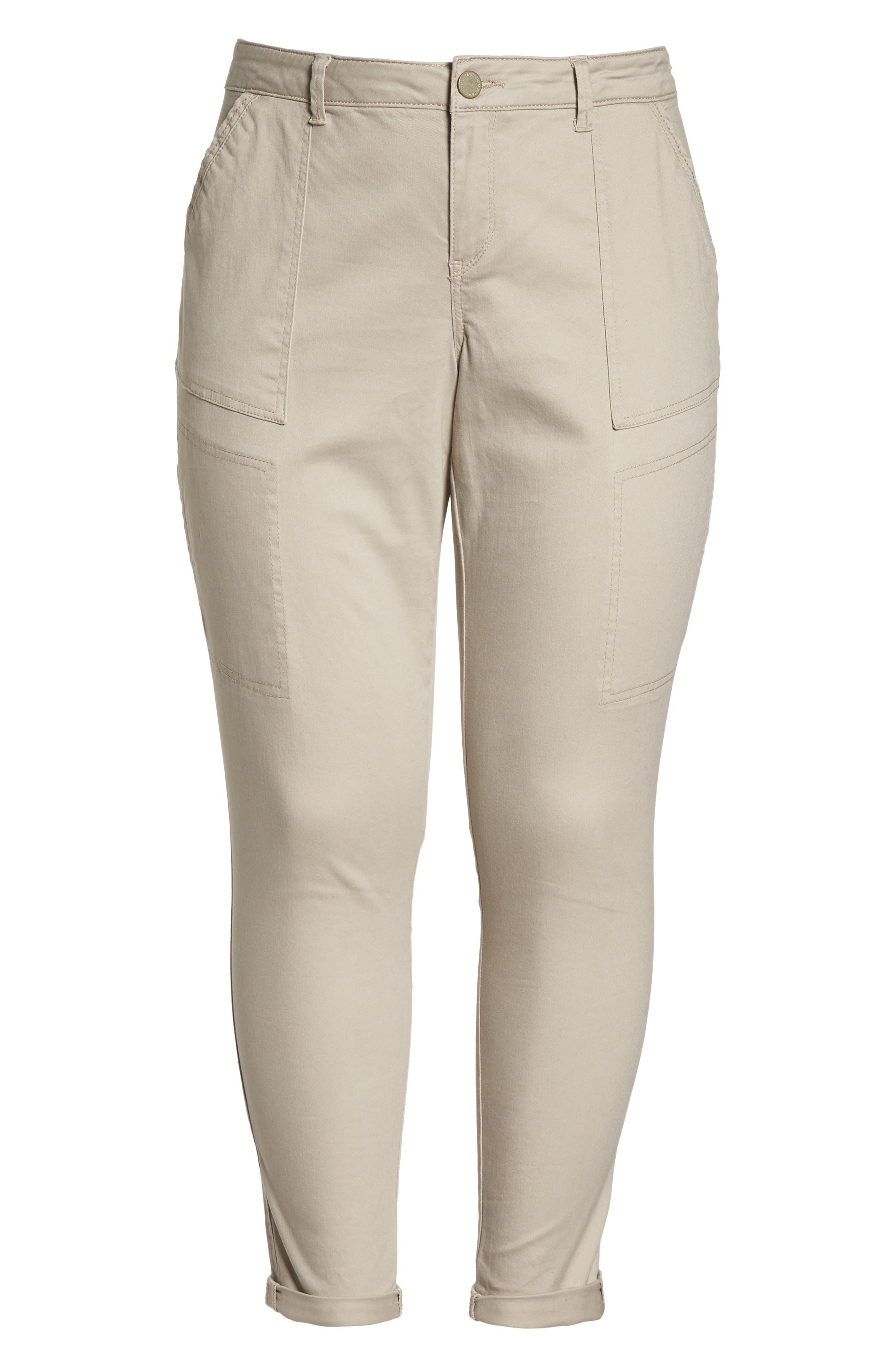 Flex-ellent Stretch Cotton Cargo Pants,                             Alternate thumbnail 7, color,                             FLAX
