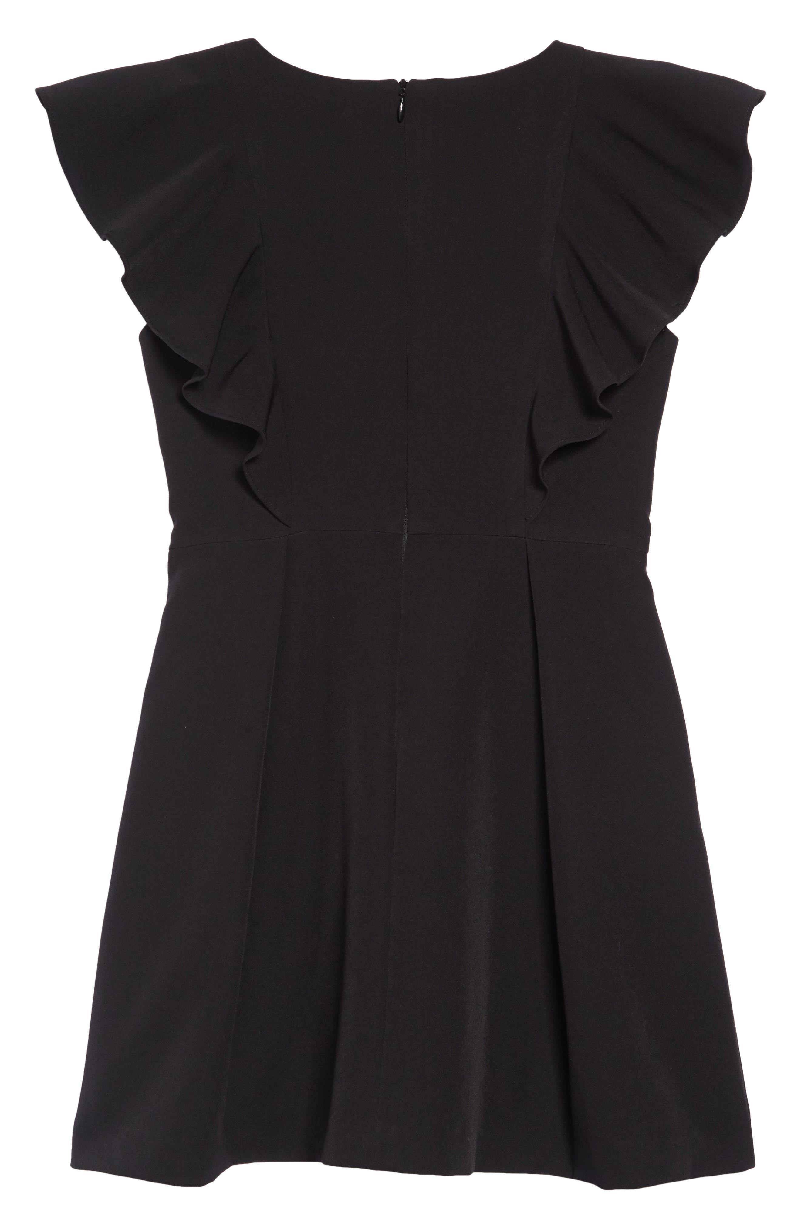 Ruffle Cady Dress,                             Alternate thumbnail 2, color,                             BLACK