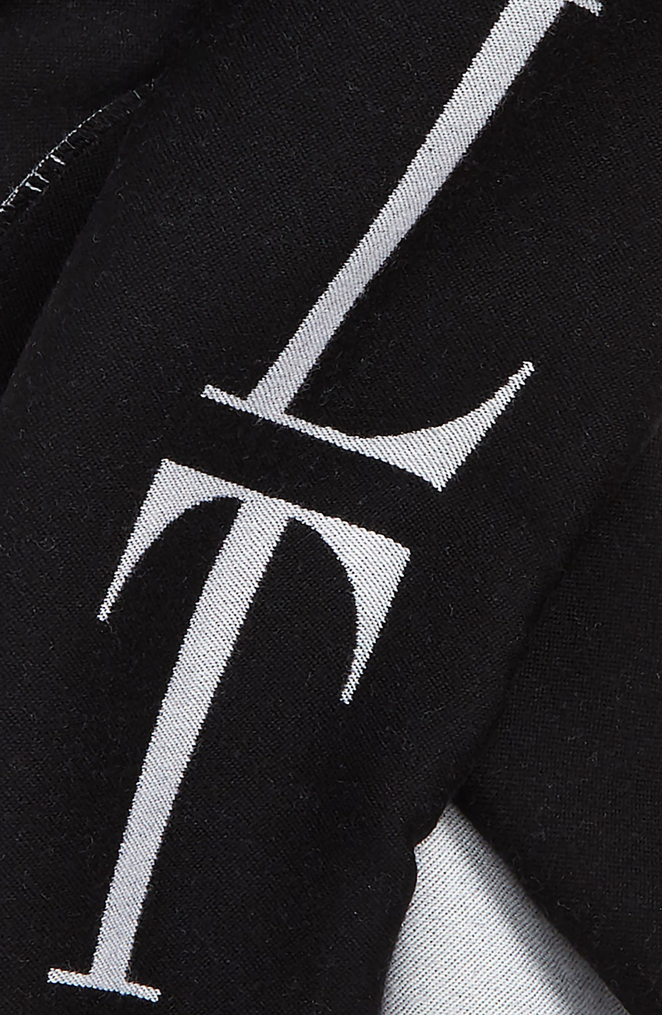 VLTN Logo Wool Scarf,                             Alternate thumbnail 3, color,                             002