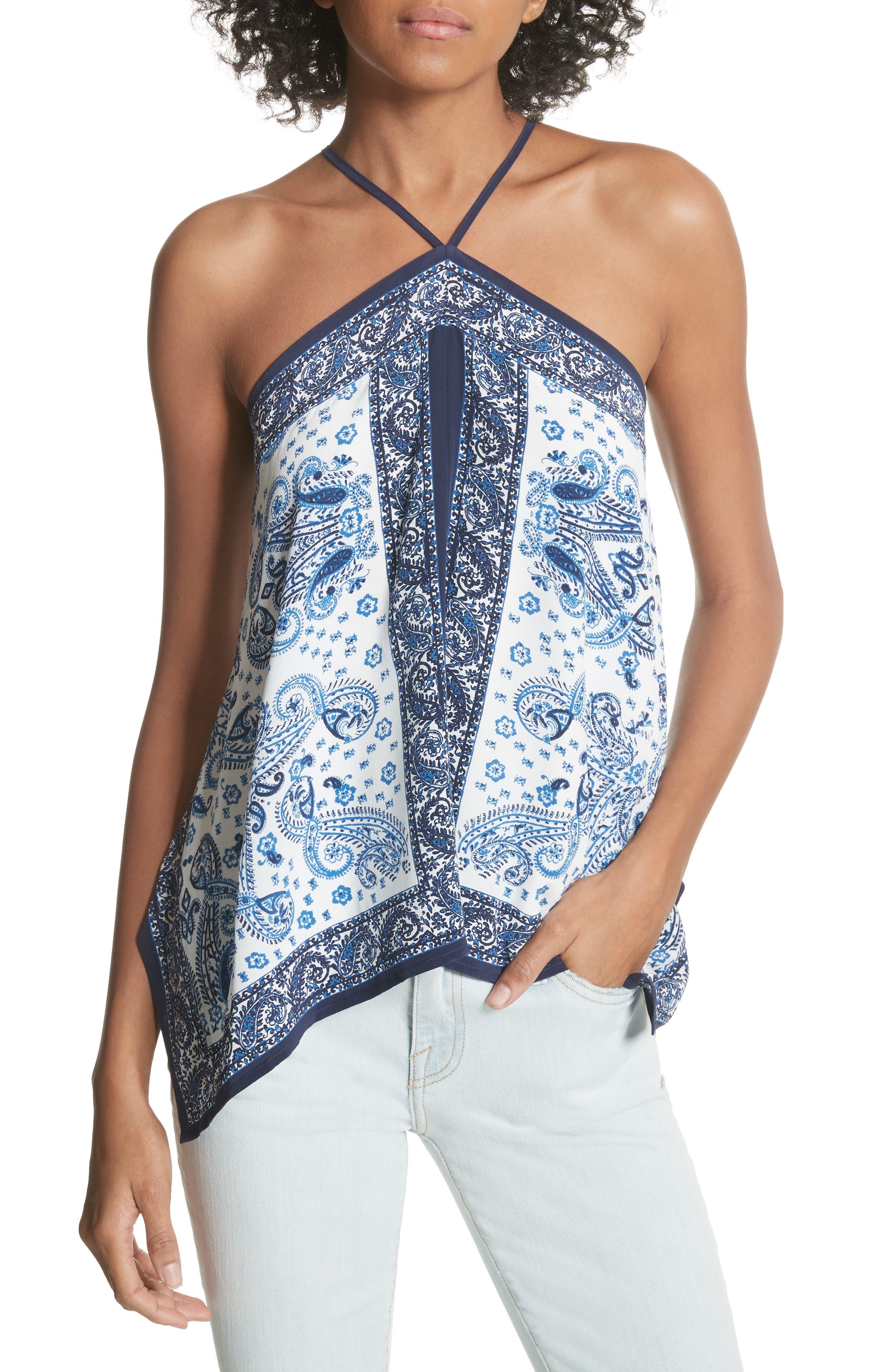 Damesha Silk Top,                         Main,                         color, 420