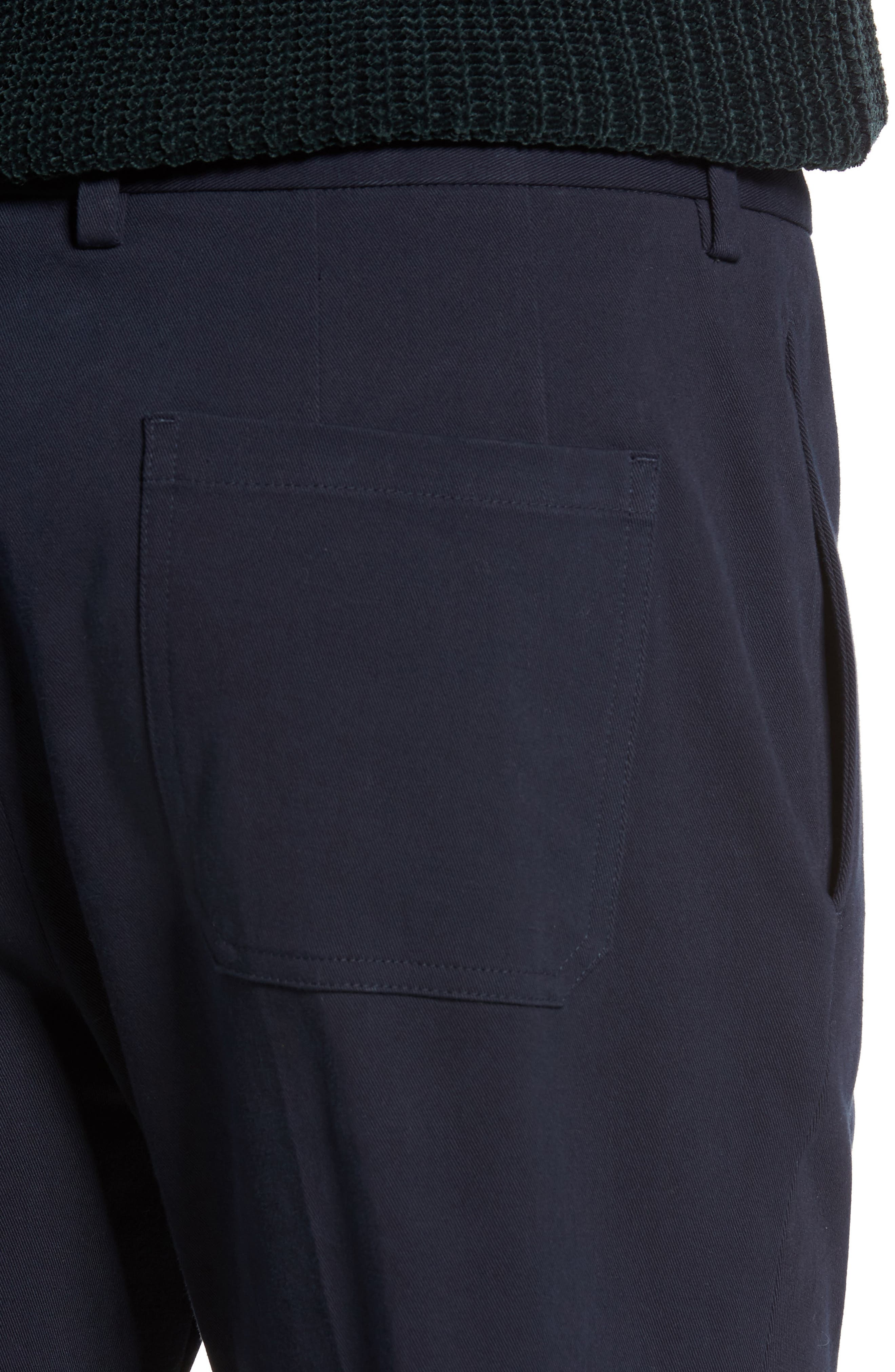 Cropped Slim Fit Trousers,                             Alternate thumbnail 4, color,                             403