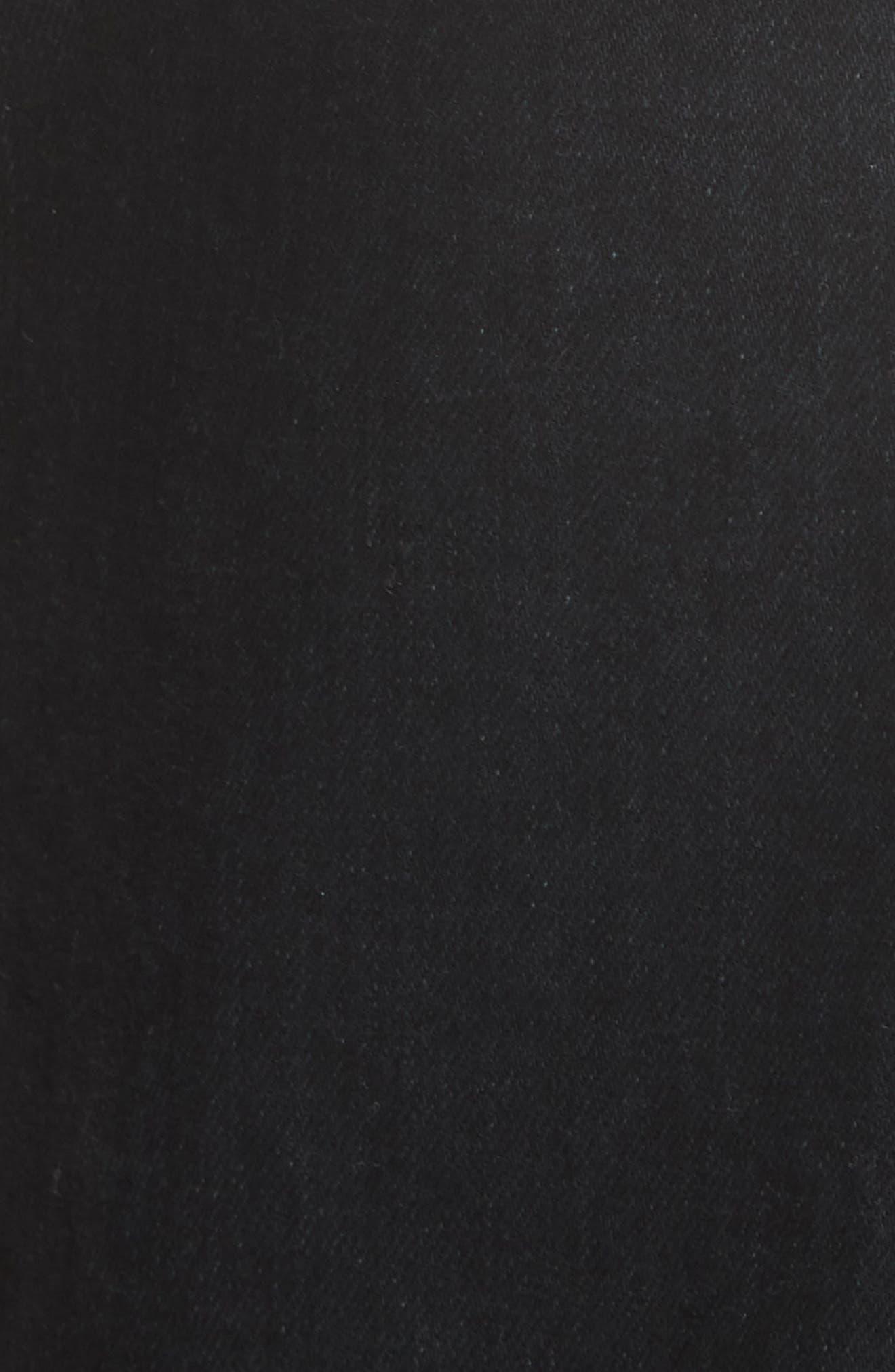 KHAITE,                             Wendell Wide Leg Crop Jeans,                             Alternate thumbnail 5, color,                             STONED BLACK