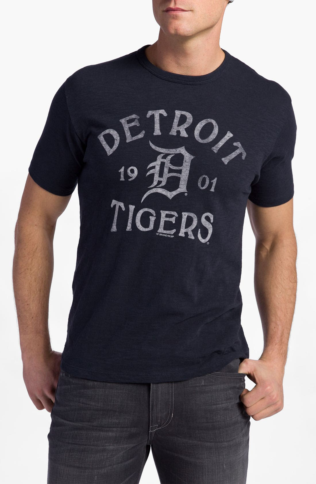 'Chicago Cubs' Regular Fit Crewneck T-Shirt,                             Main thumbnail 23, color,