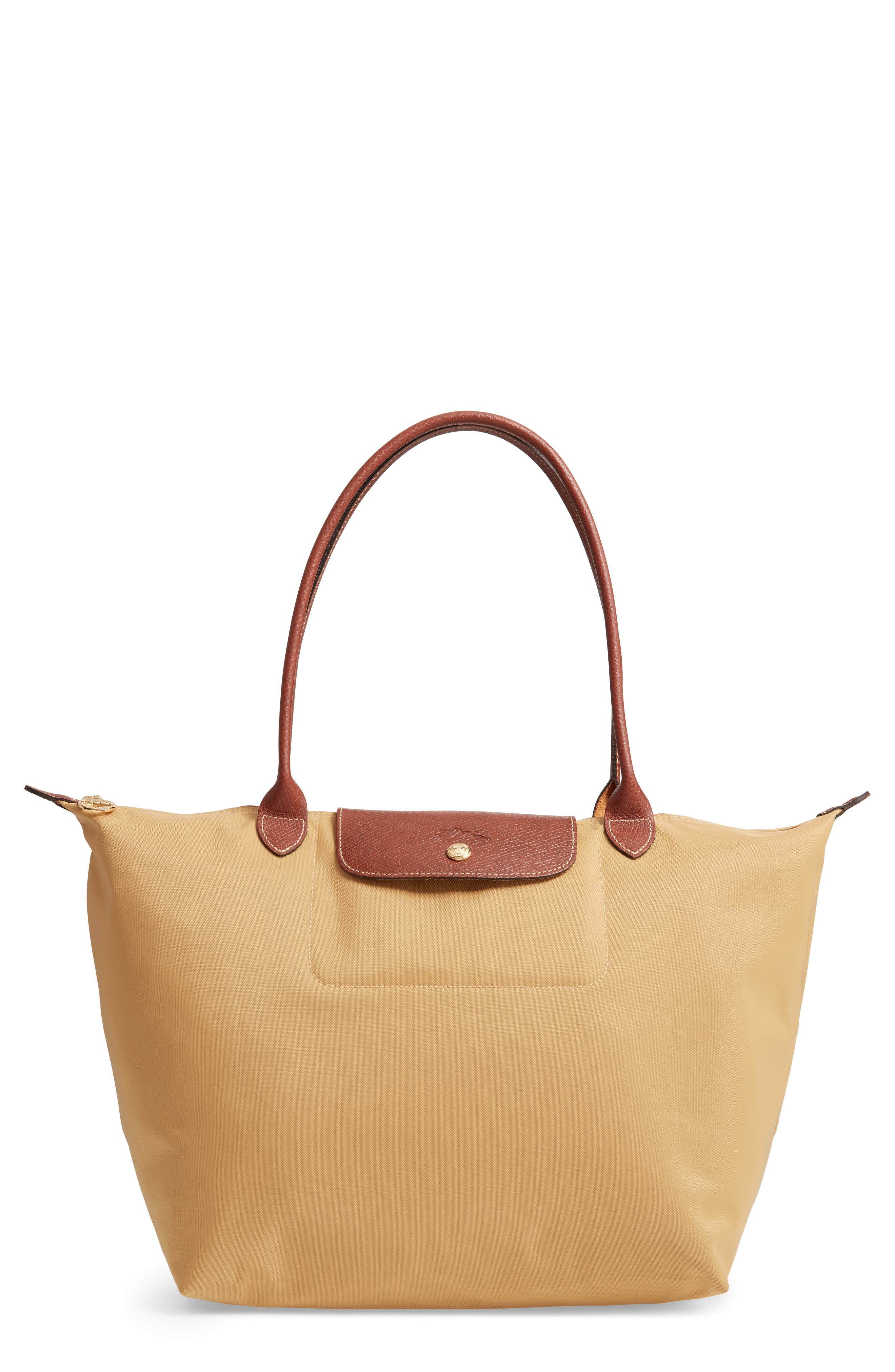 'Large Le Pliage' Tote,                             Main thumbnail 1, color,                             HONEY
