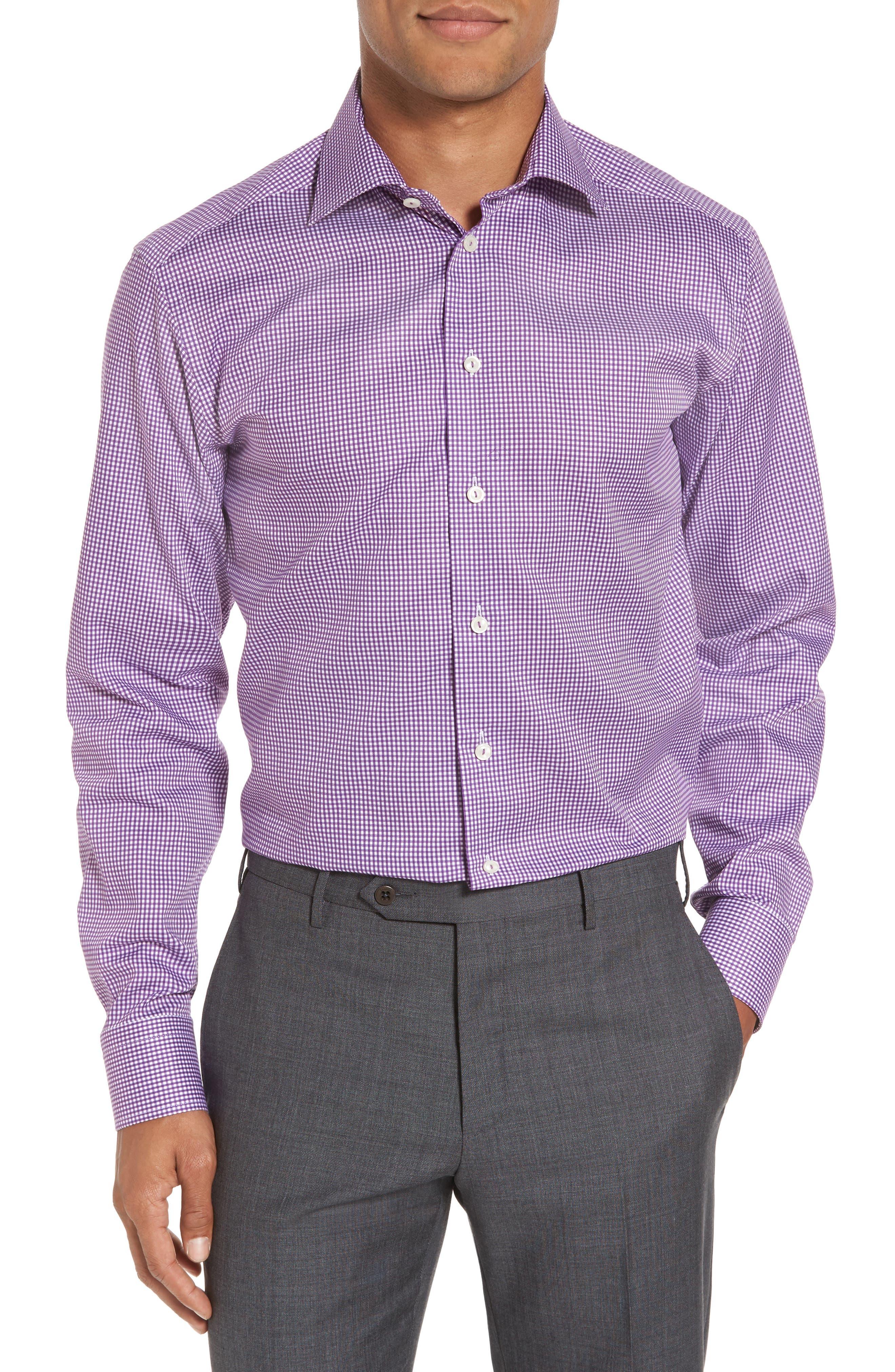 Slim Fit Check Dress Shirt,                             Main thumbnail 1, color,                             500