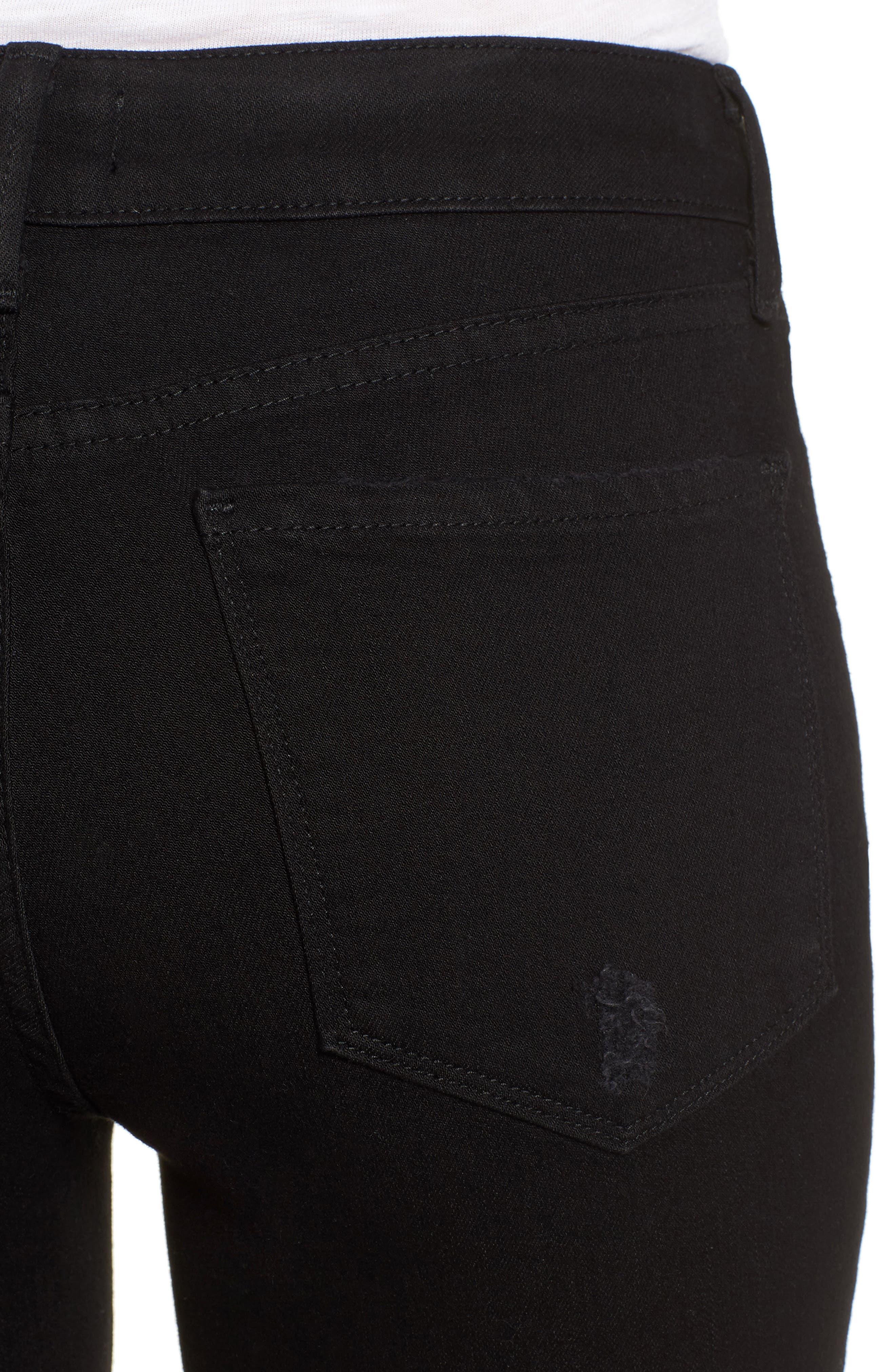 Ami Slash Knee Stretch Skinny Jeans,                             Alternate thumbnail 4, color,                             008