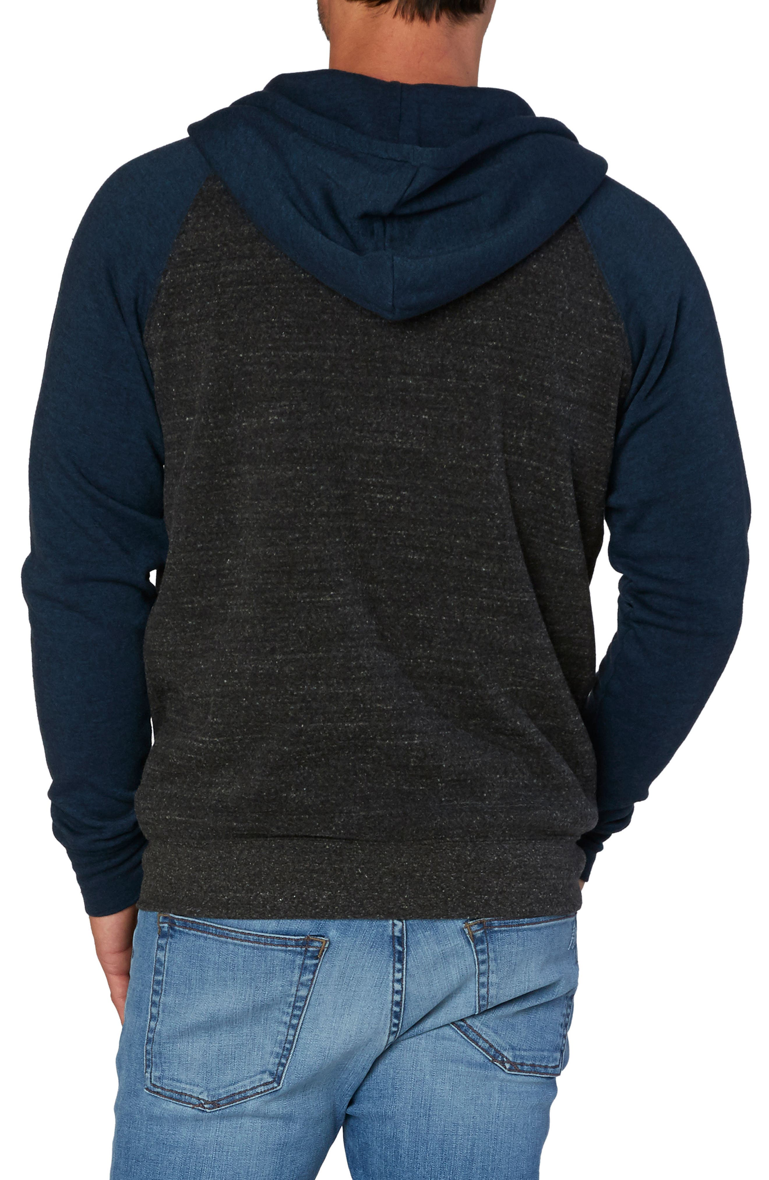 Threads for Thought Raglan Hoodie,                             Alternate thumbnail 2, color,                             001