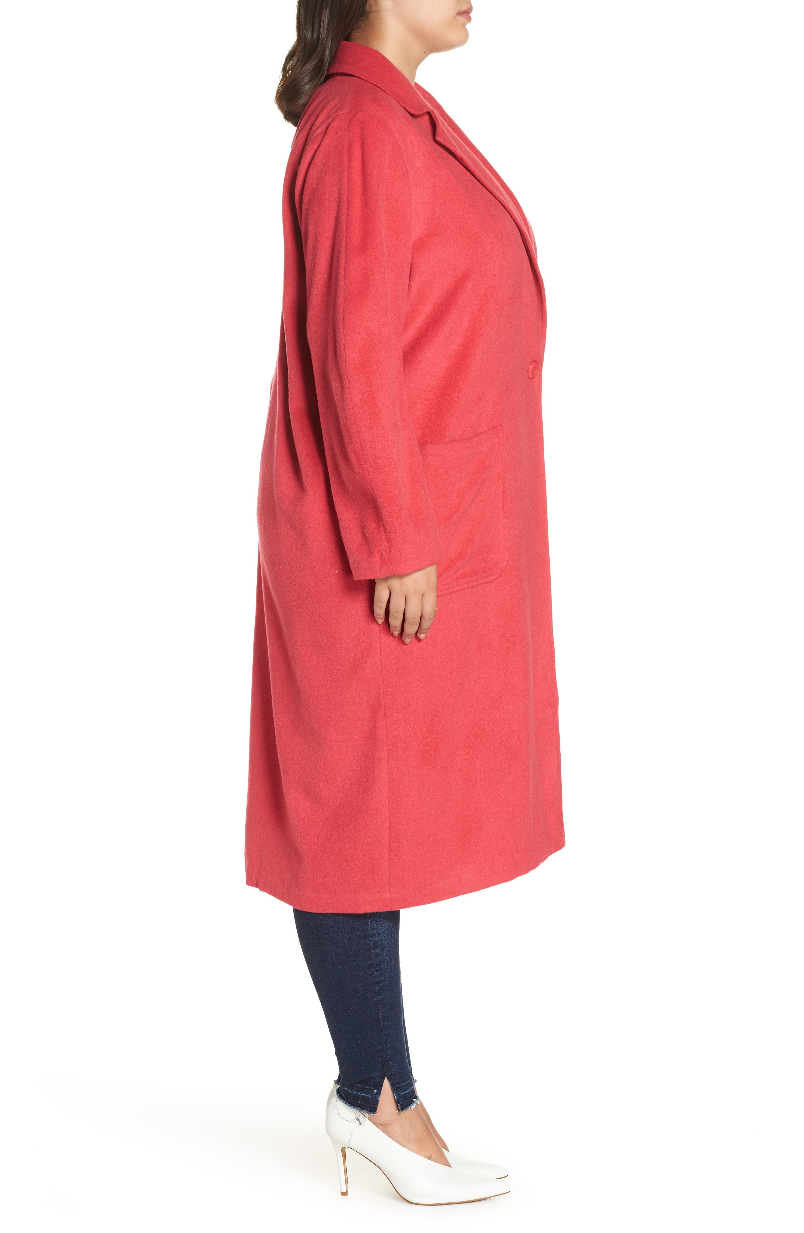 Single Button Long Jacket,                             Alternate thumbnail 3, color,                             PINK TEABERRY