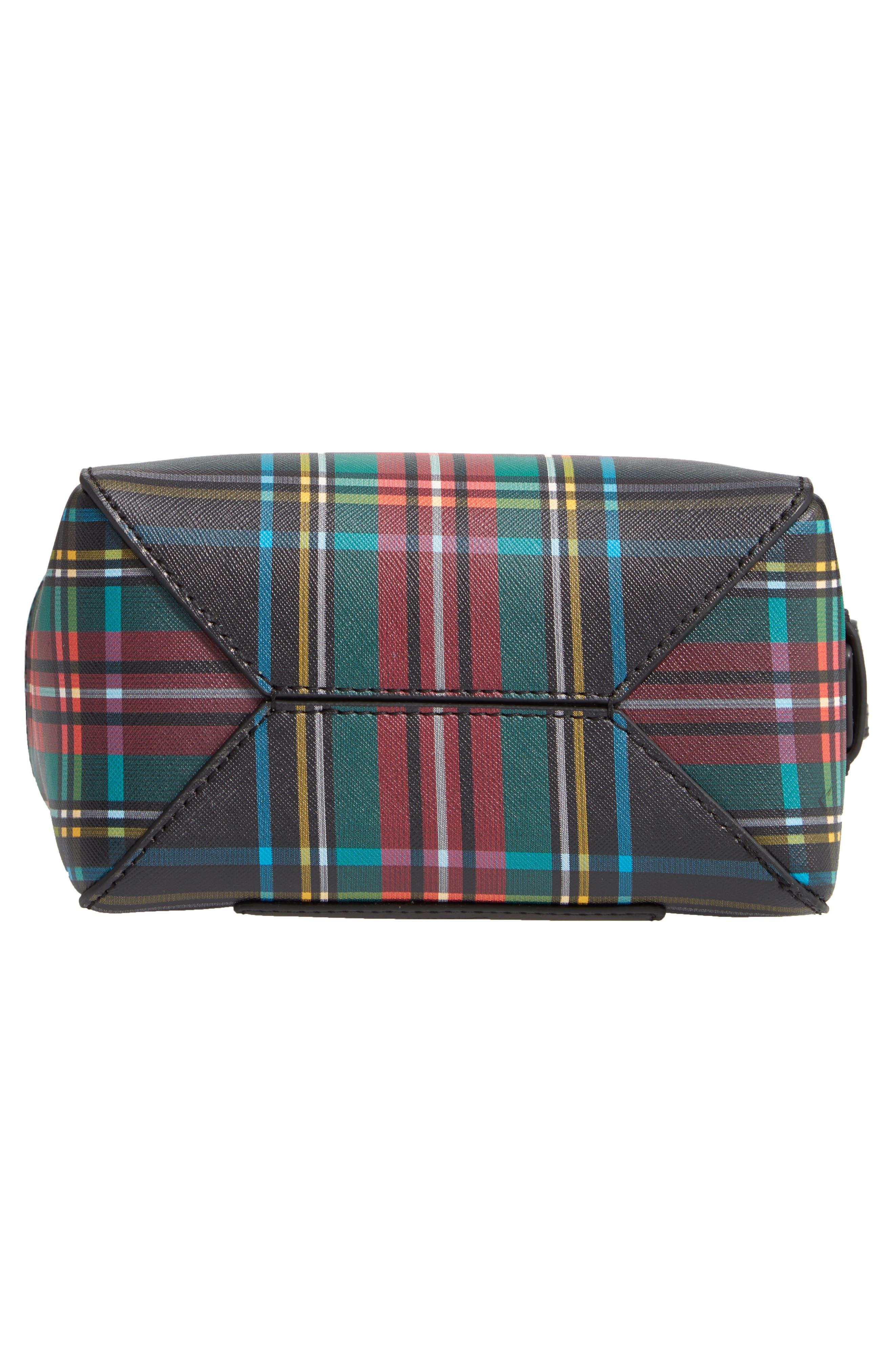 Mini Harper Leather Satchel,                             Alternate thumbnail 6, color,                             BLACK RED MULTI
