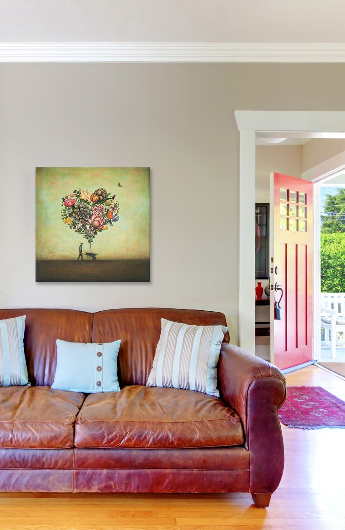 'Big Heart Botany' Giclée Print Canvas Art,                             Alternate thumbnail 2, color,                             300