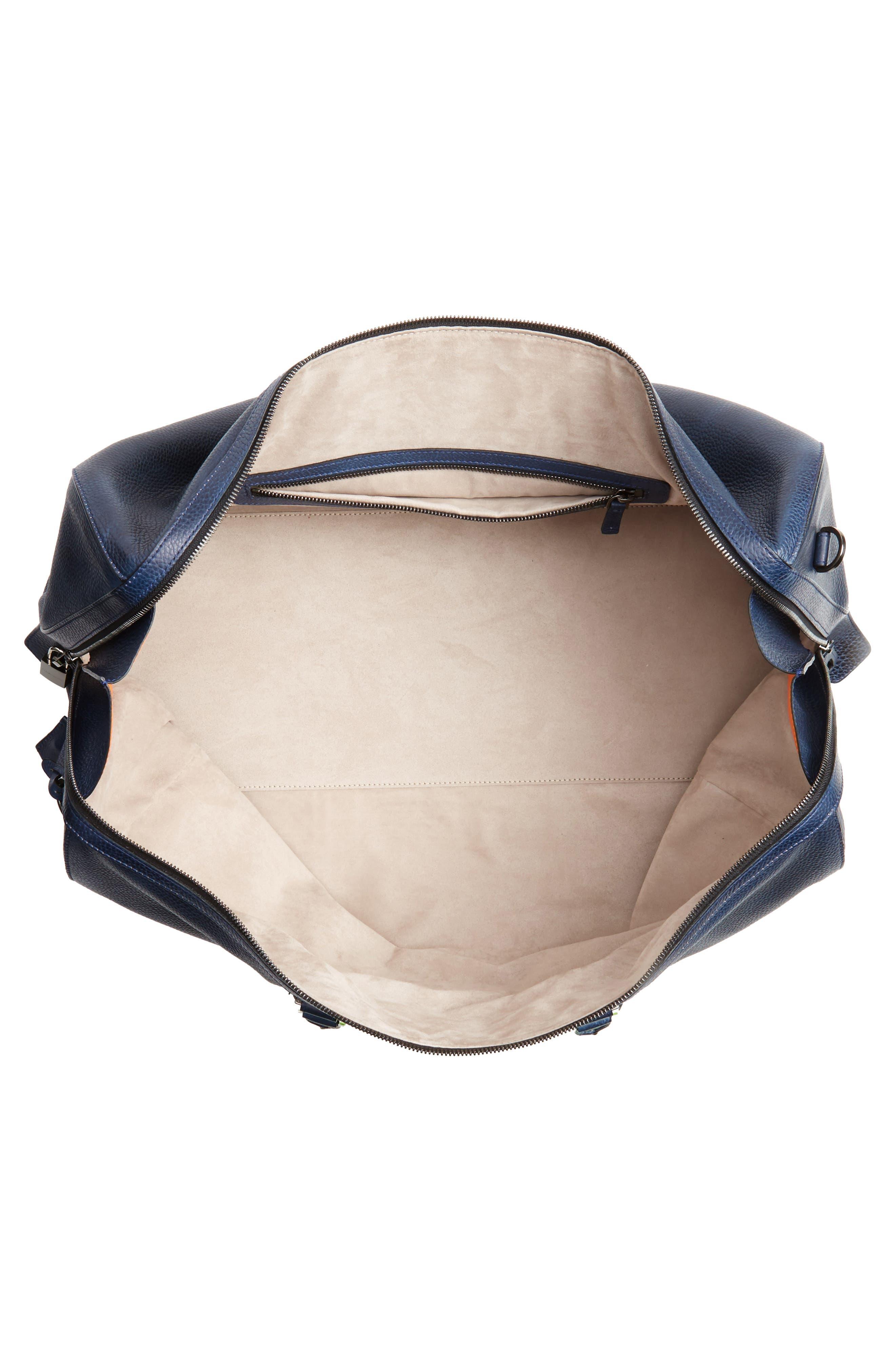 Traveler Leather Duffel Bag,                             Alternate thumbnail 14, color,