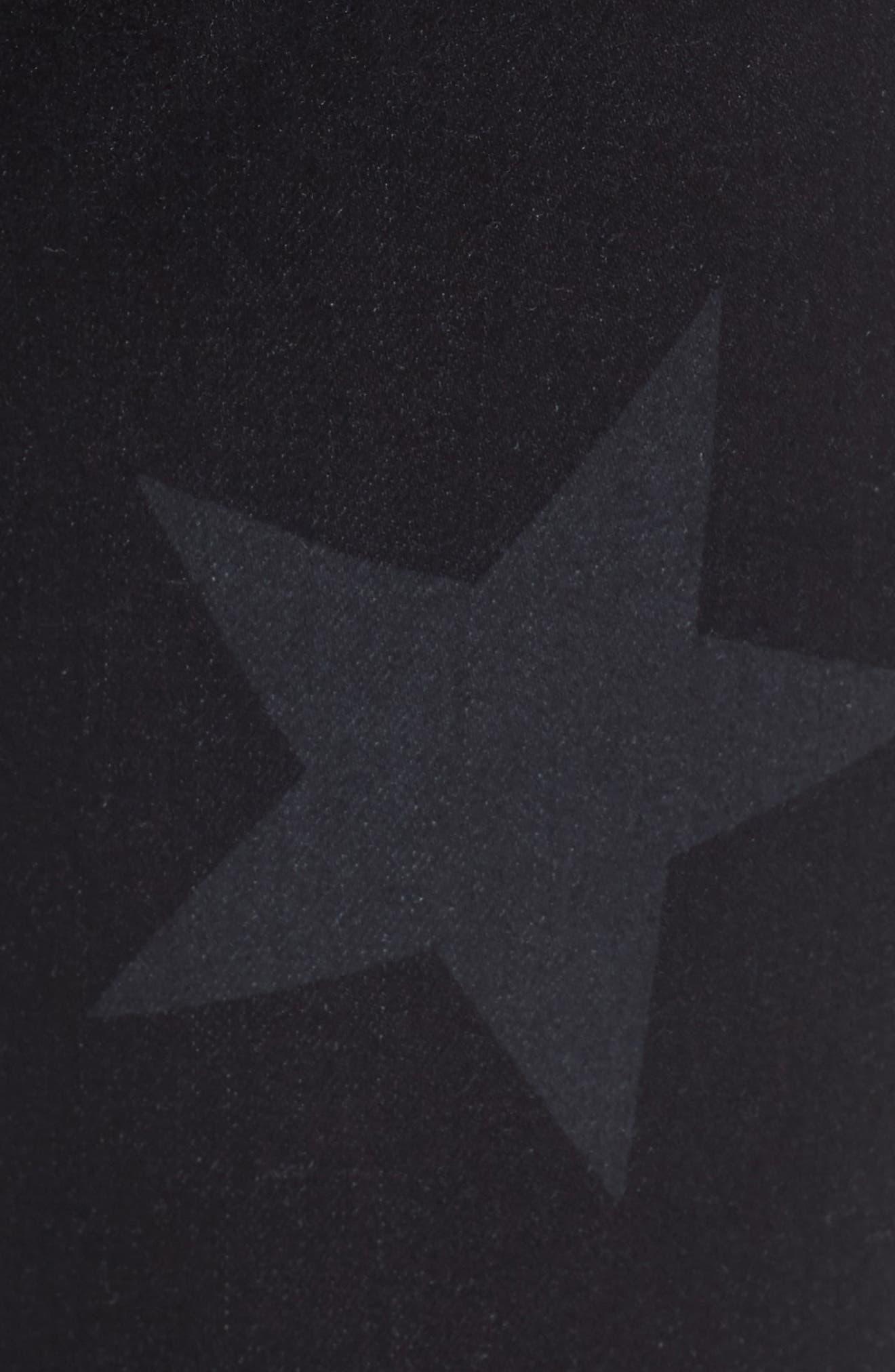 Mia Star Print Skinny Jeans,                             Alternate thumbnail 5, color,                             472