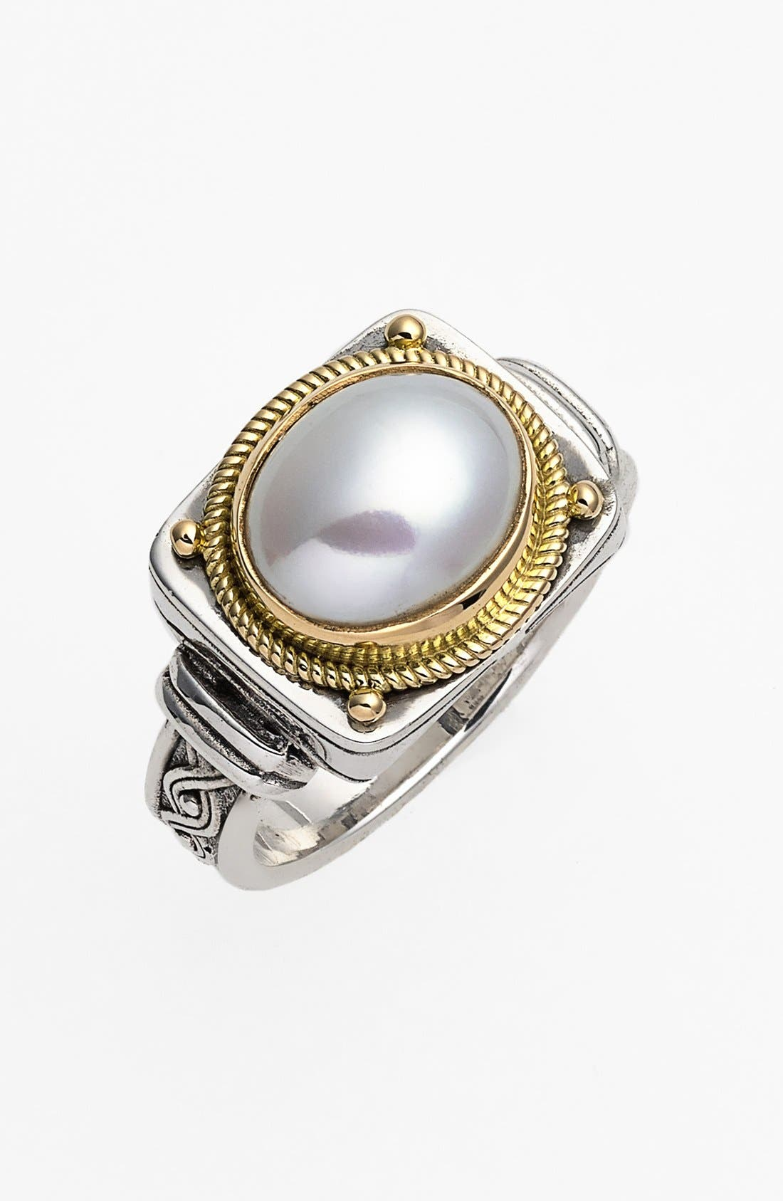'Classics' Pearl Ring,                         Main,                         color, SILVER/ GOLD