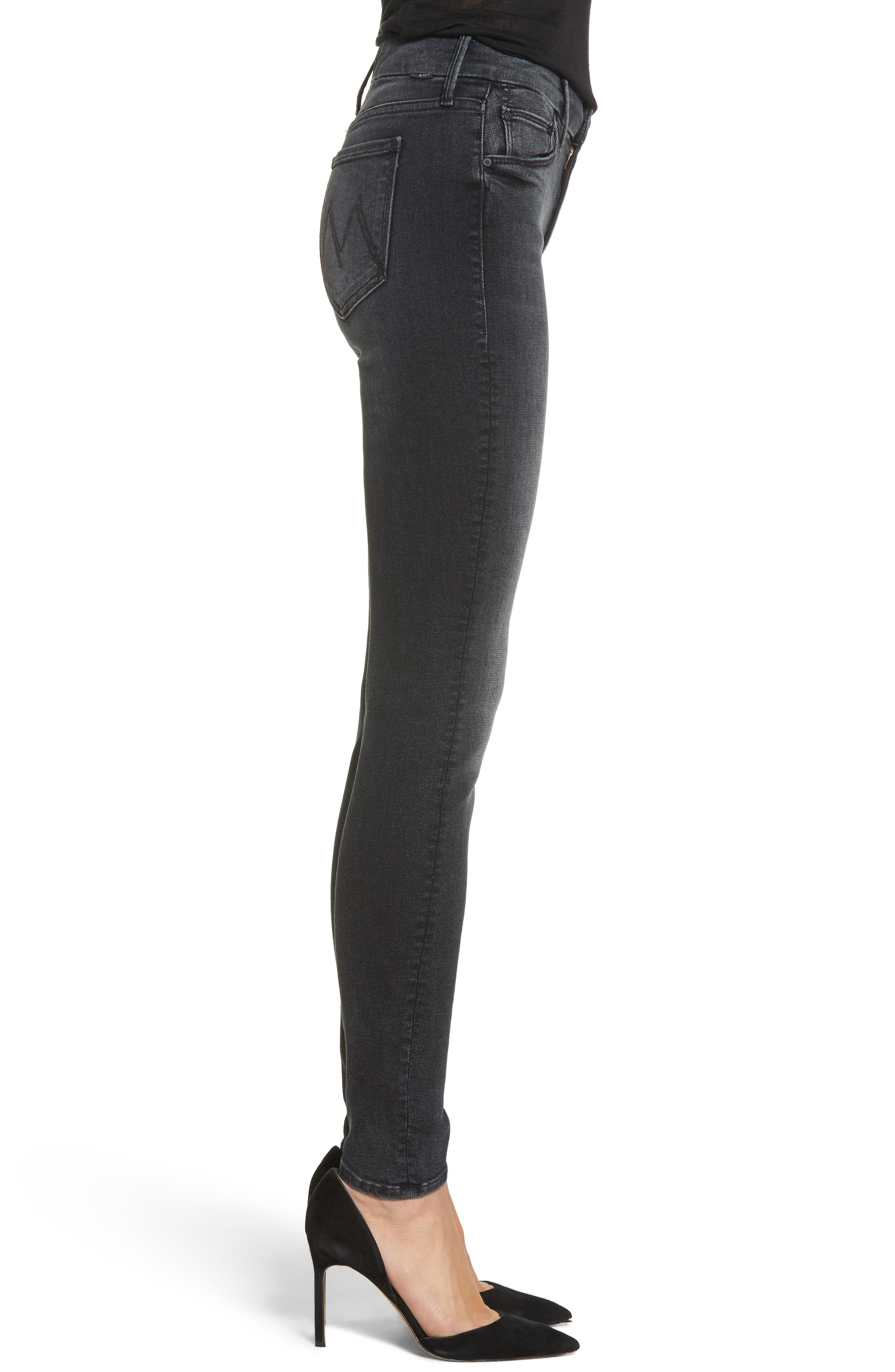 The Looker Mid Rise Skinny Jeans,                             Alternate thumbnail 3, color,                             NIGHT HAWK