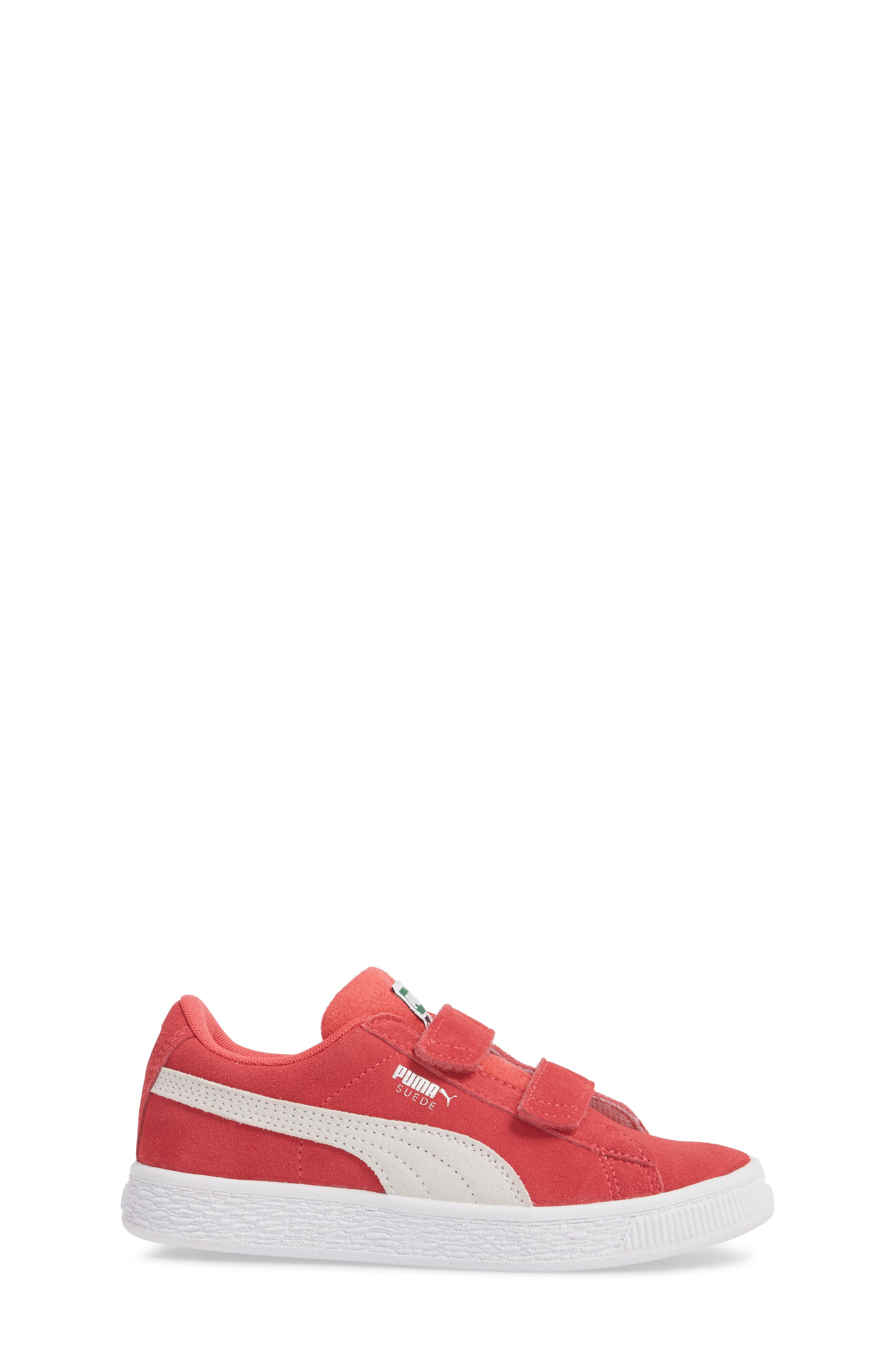 Suede Classic Sneaker,                             Alternate thumbnail 3, color,                             PARADISE PINK/ PUMA WHITE