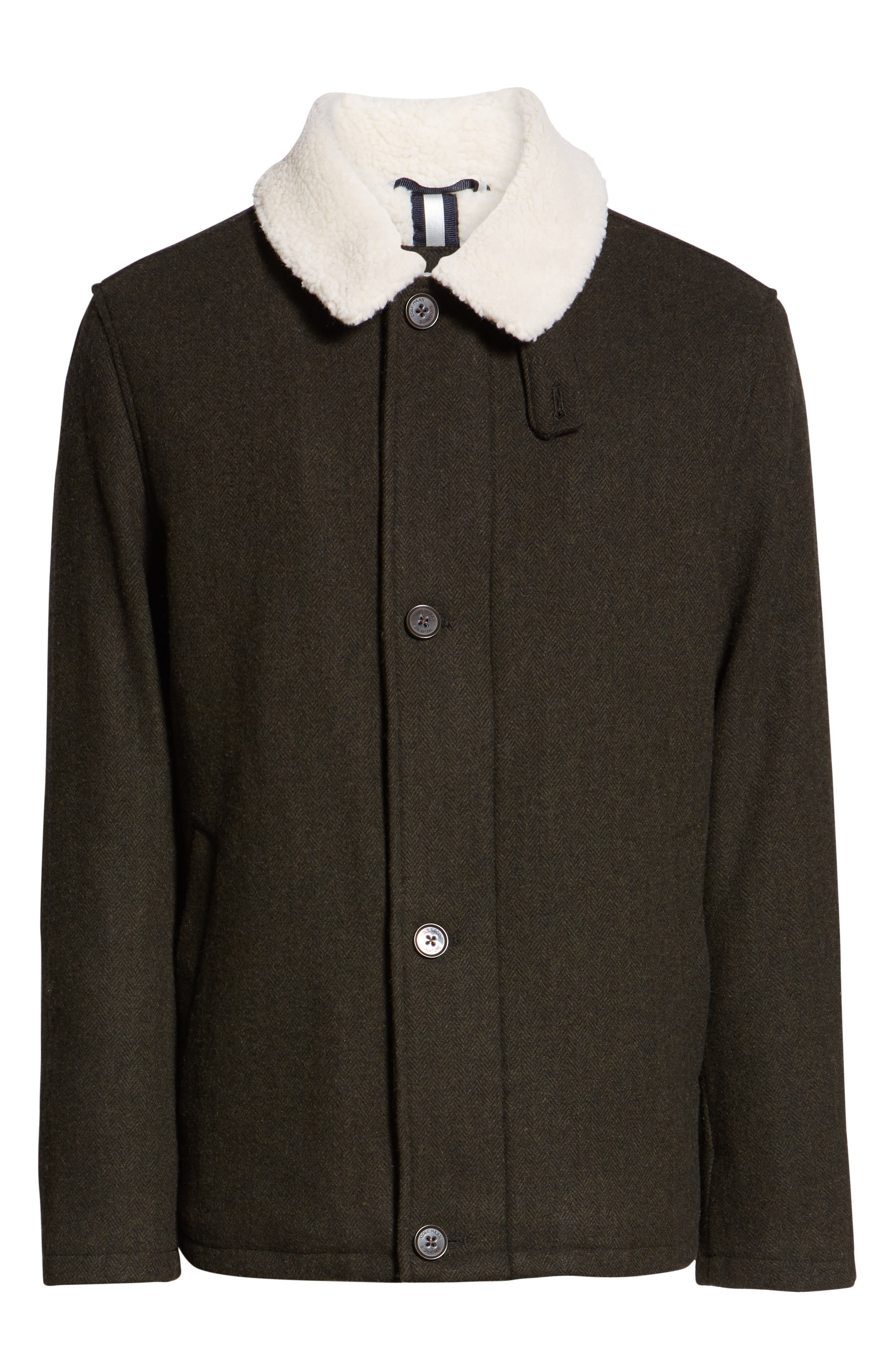 COLE HAAN SIGNATURE,                             Faux Shearling Trim Field Jacket,                             Alternate thumbnail 6, color,                             317