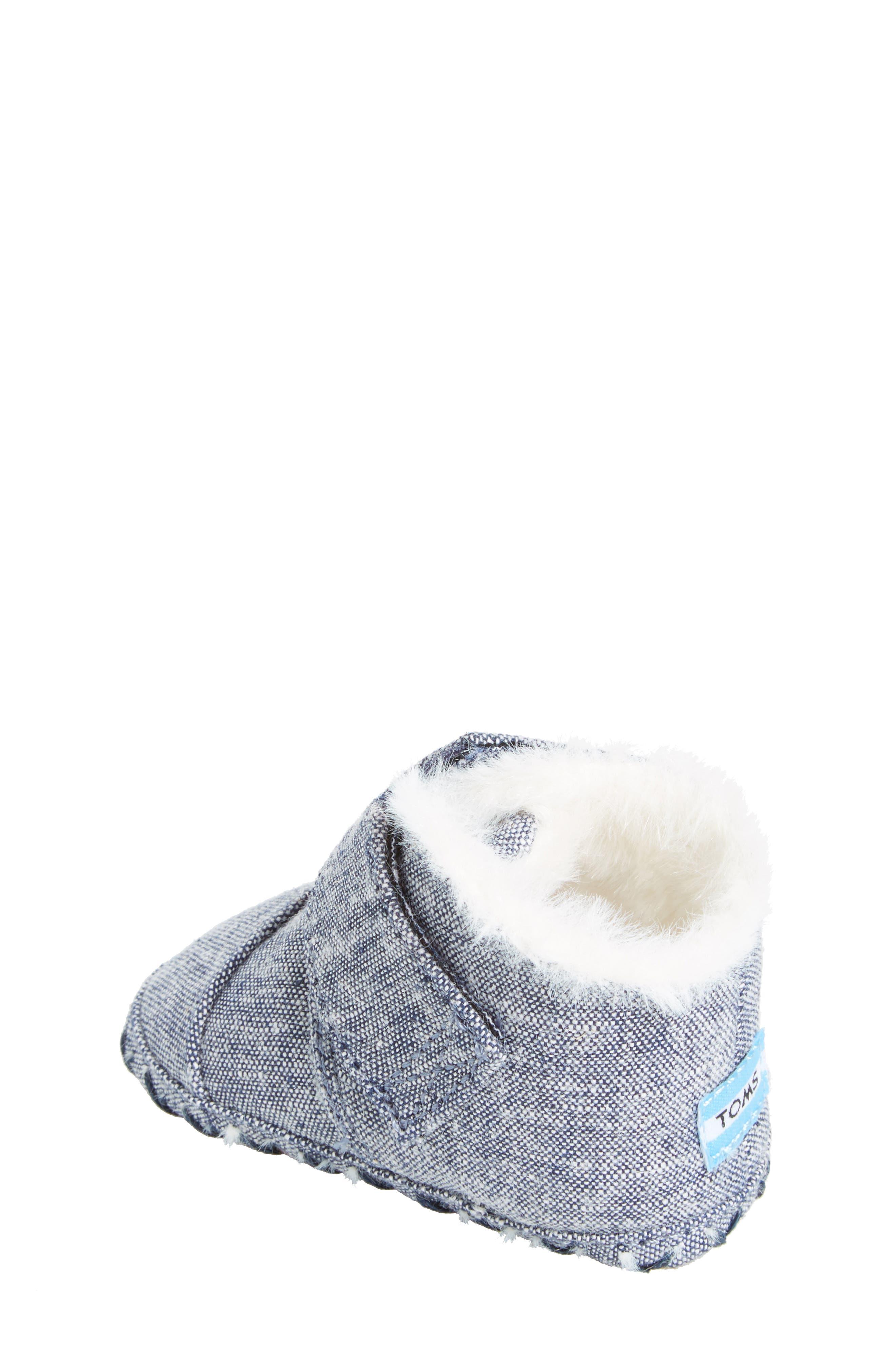 Tiny Cuna Faux Fur Crib Bootie,                             Alternate thumbnail 6, color,